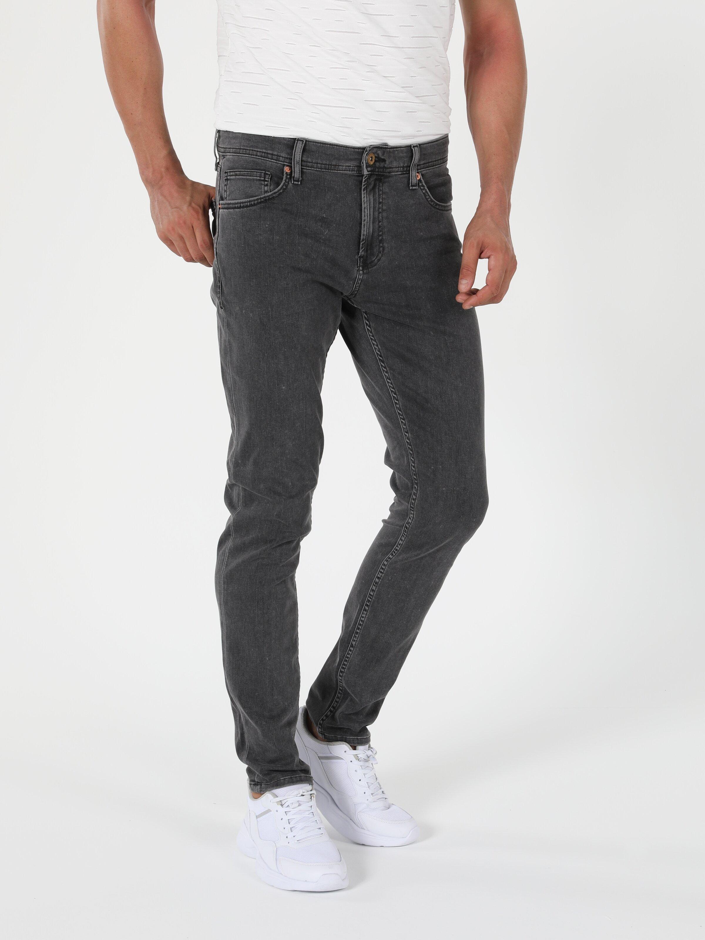 041 Danny Düşük Bel Dar Paça Slim Fit Jean Erkek Jean Pantolon