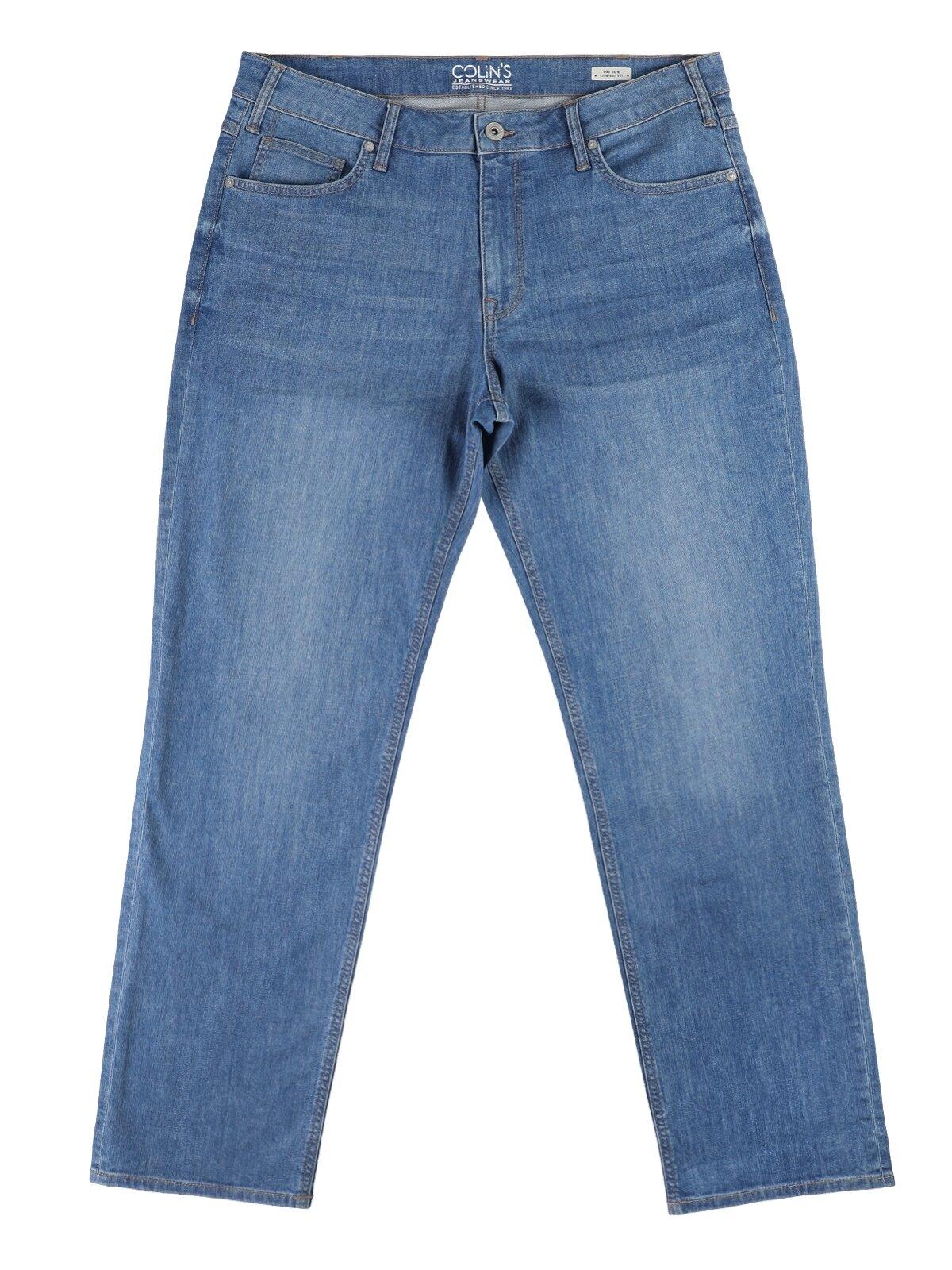 090 Tom Orta Bel Düz Paça Comfort Fit Mavi Erkek Jean Pantolon