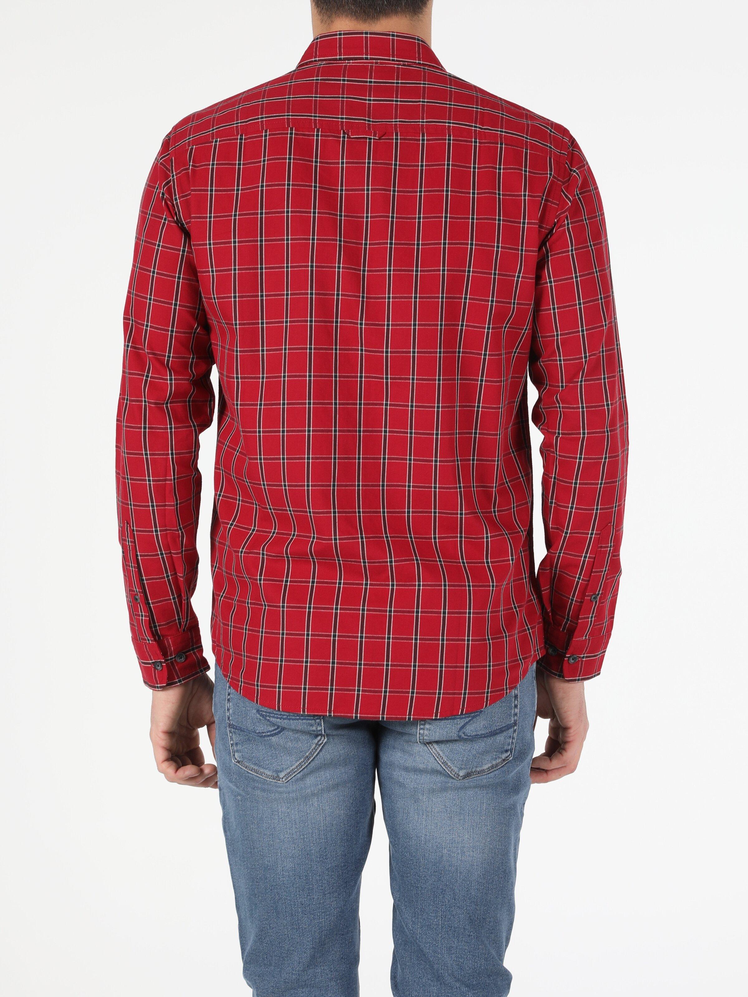 Erkek Uzun Kol Kırmızı Gömlek