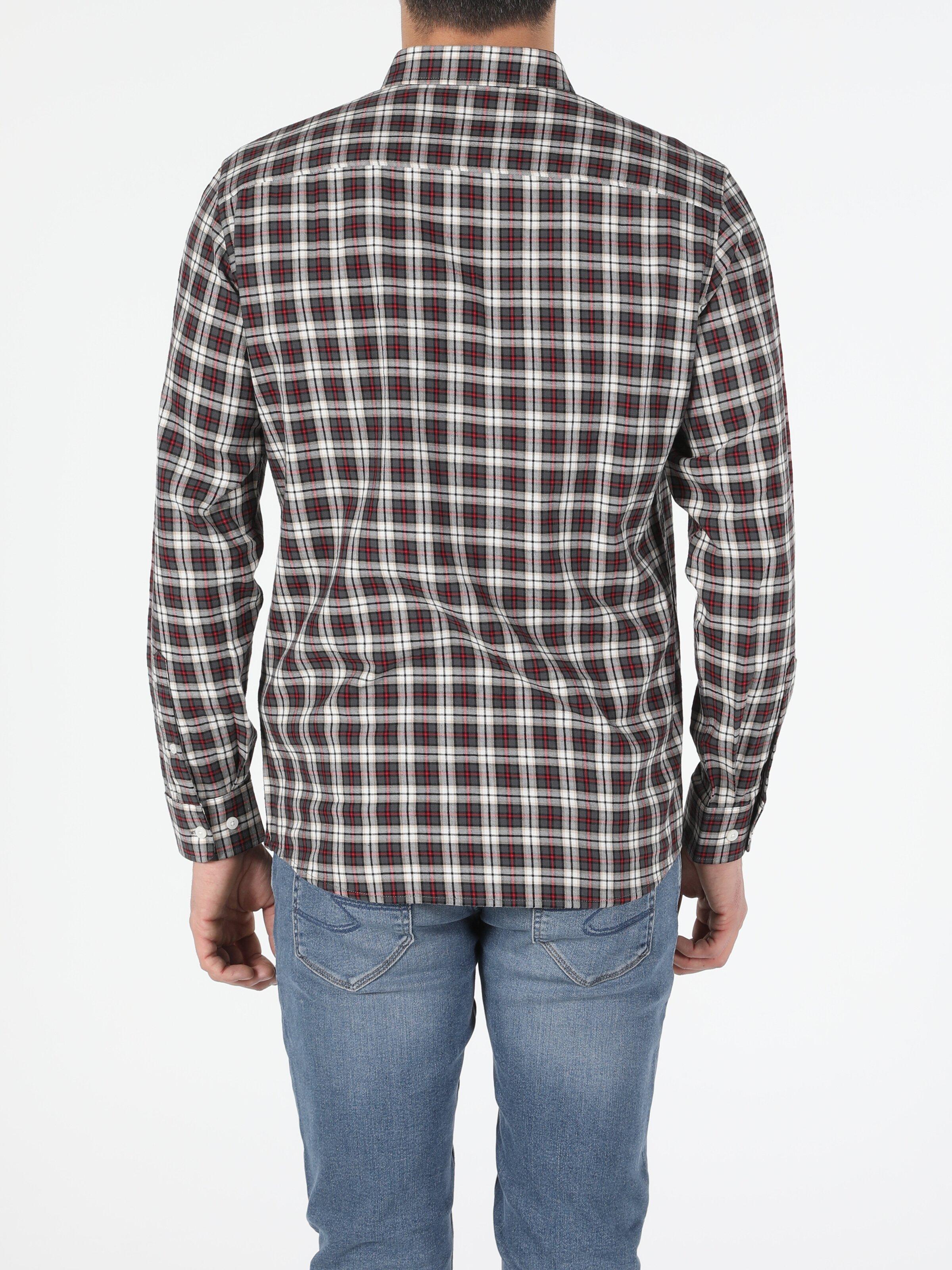 Erkek Uzun Kol Antrasit Gömlek