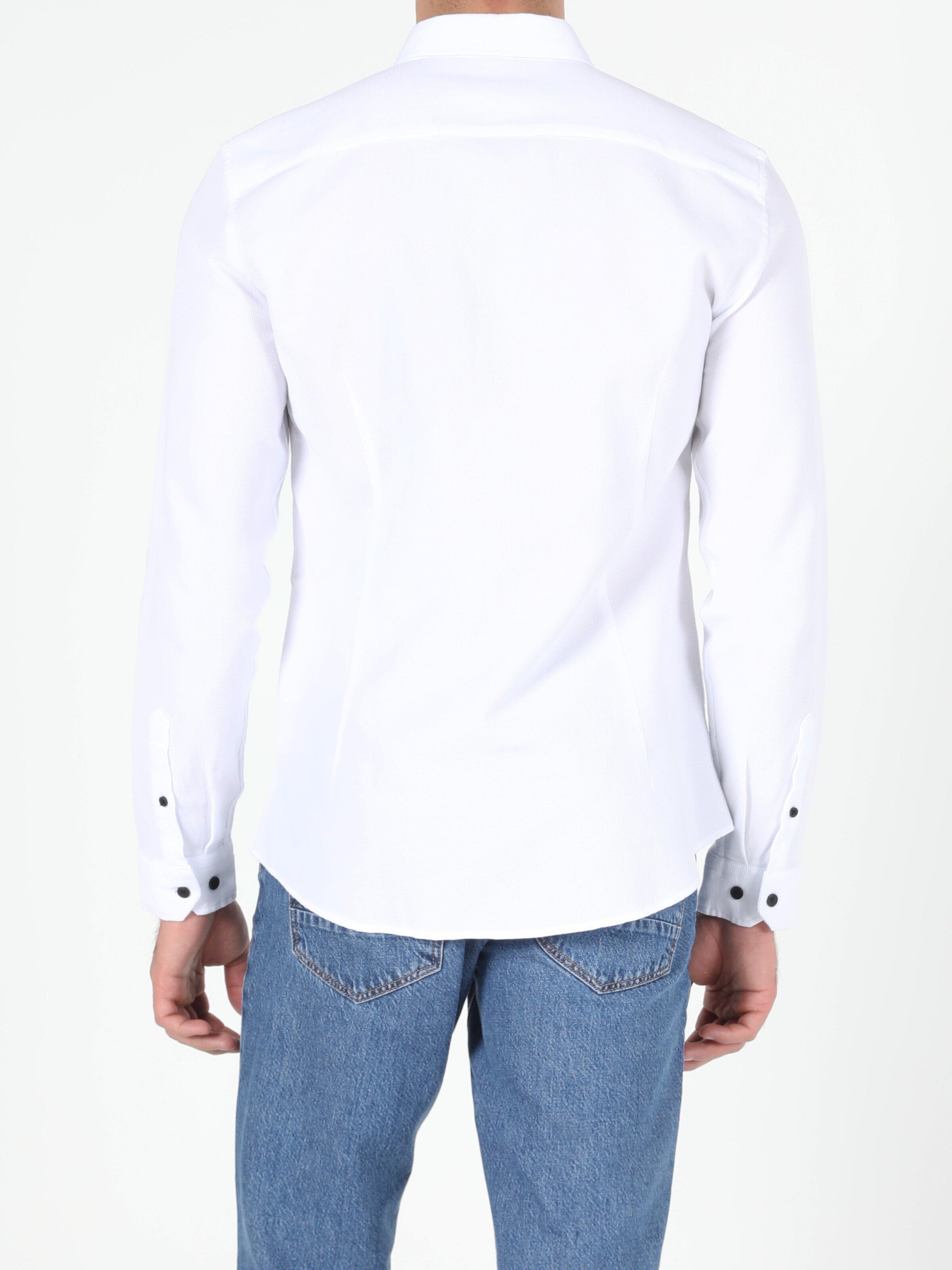 Erkek Uzun Kol Beyaz Gömlek