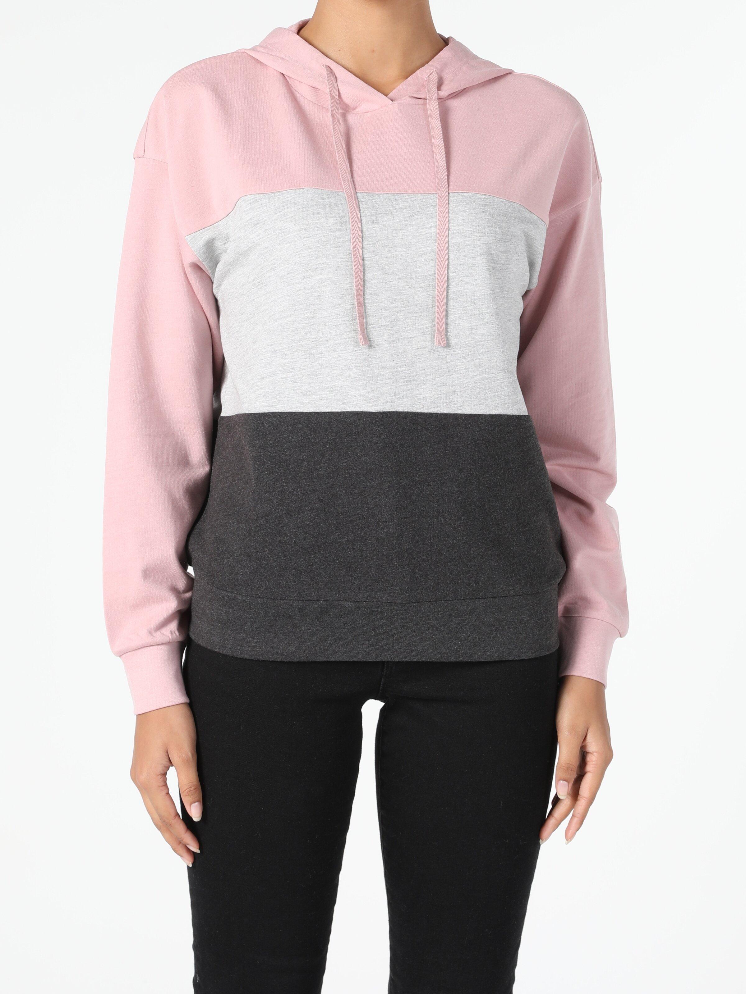 Regular Fit Pembe Kadın Sweatshirt