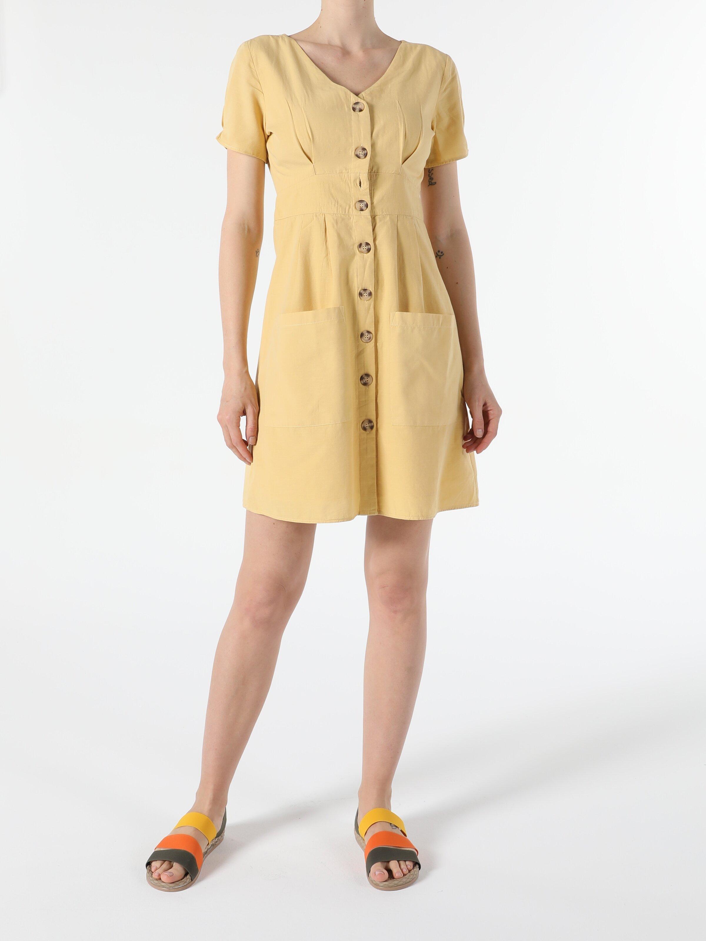 Sarı Kadın Elbise