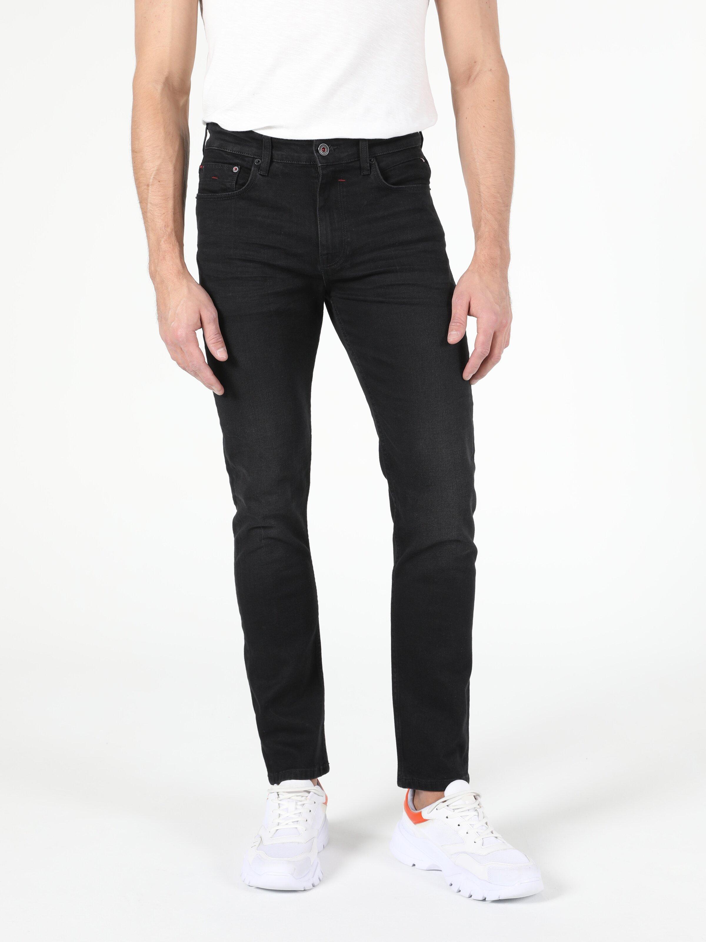 035 Ryan Yüksek Bel Dar Paça Skinny Fit Siyah Erkek Jean Pantolon