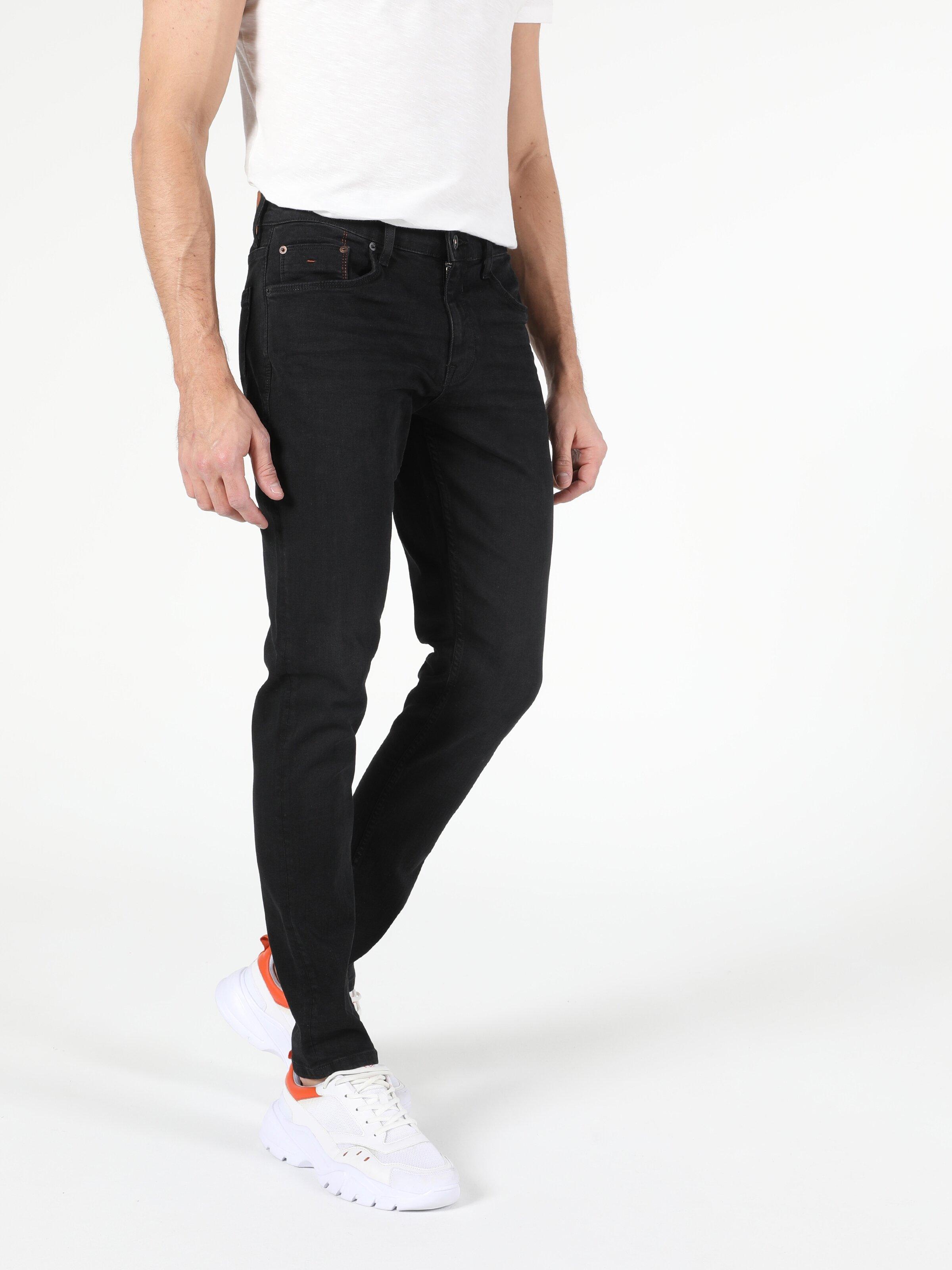 041 Danny Düşük Bel Dar Paça Slim Fit Siyah Erkek Jean Pantolon