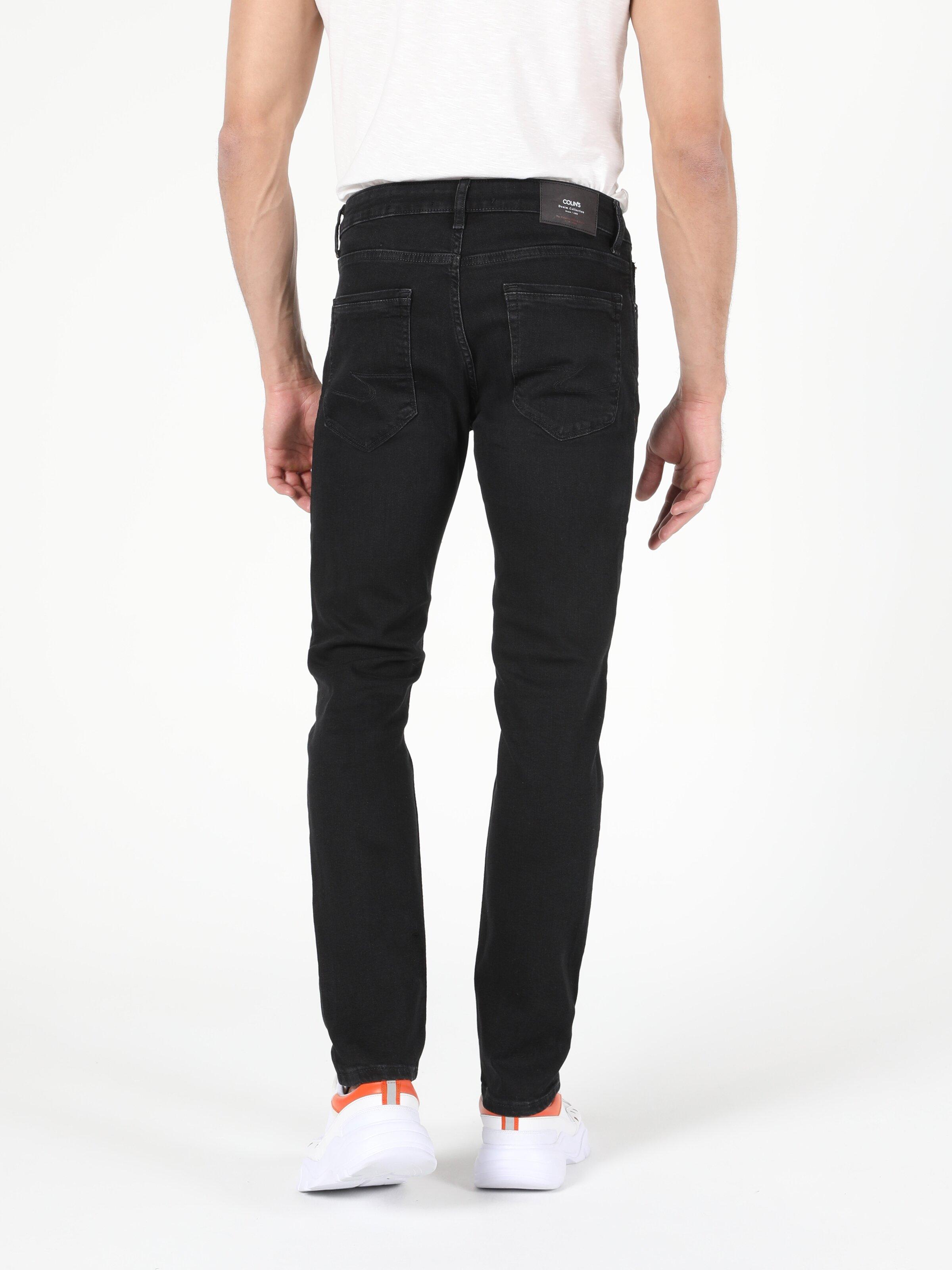 044 Karl Düşük Bel Düz Paça Straight Fit Siyah Erkek Jean Pantolon