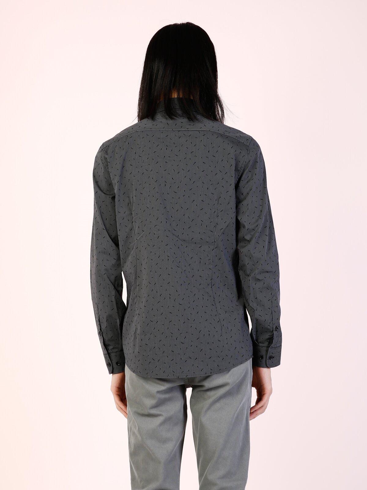 Antrasit Uzun Kol Gömlek