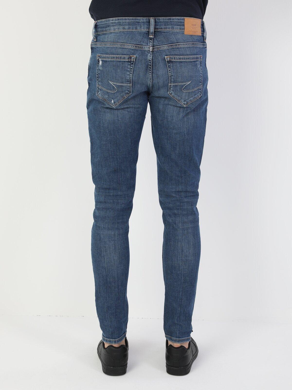 041 Danny Slim Fit Düşük Bel Slim Leg  Erkek Beyaz Jean Pantolon