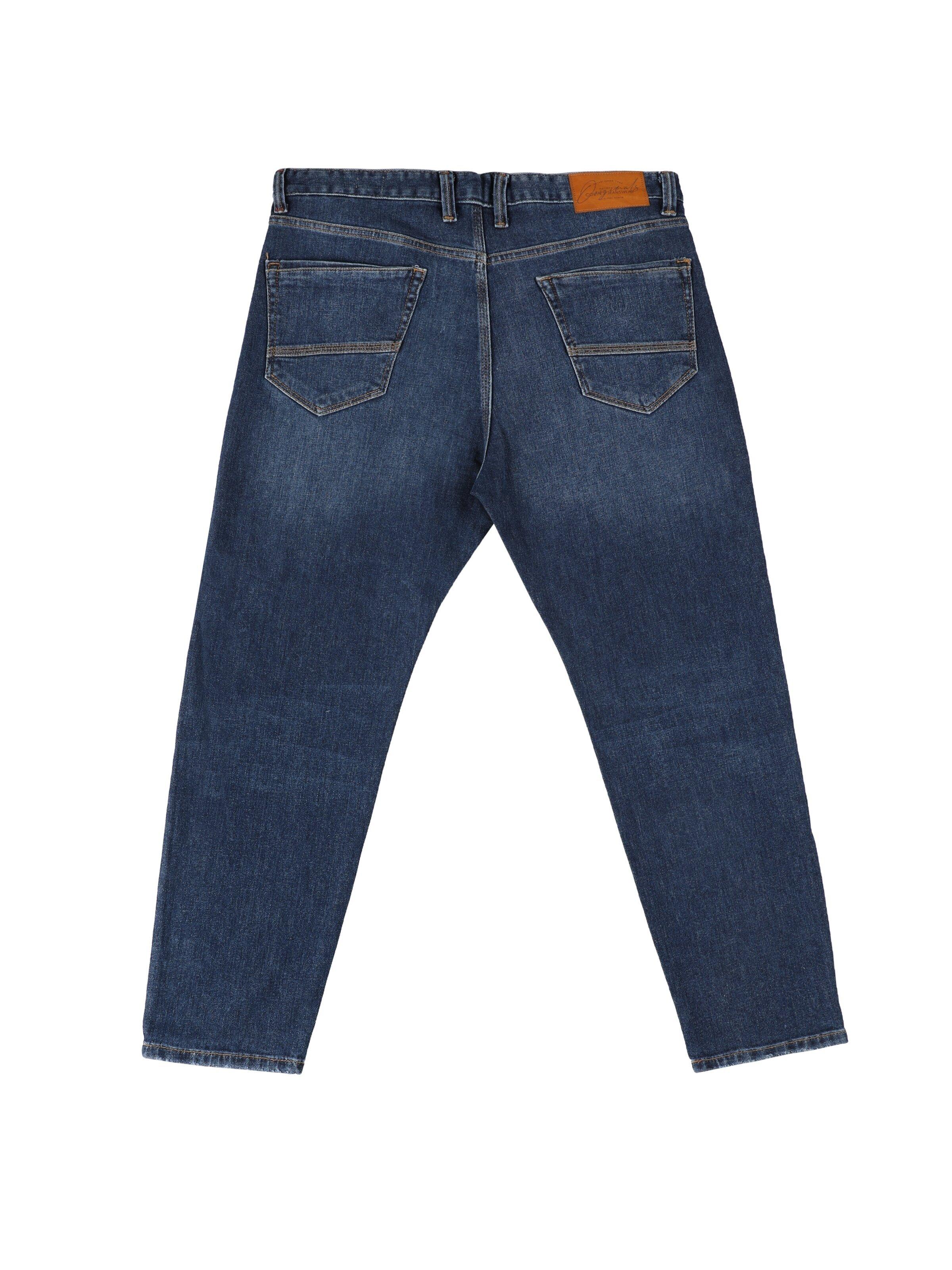039 Lucas Drop Crotch Carrot Leg Carrot Fit Beyaz Erkek Jean Pantolon