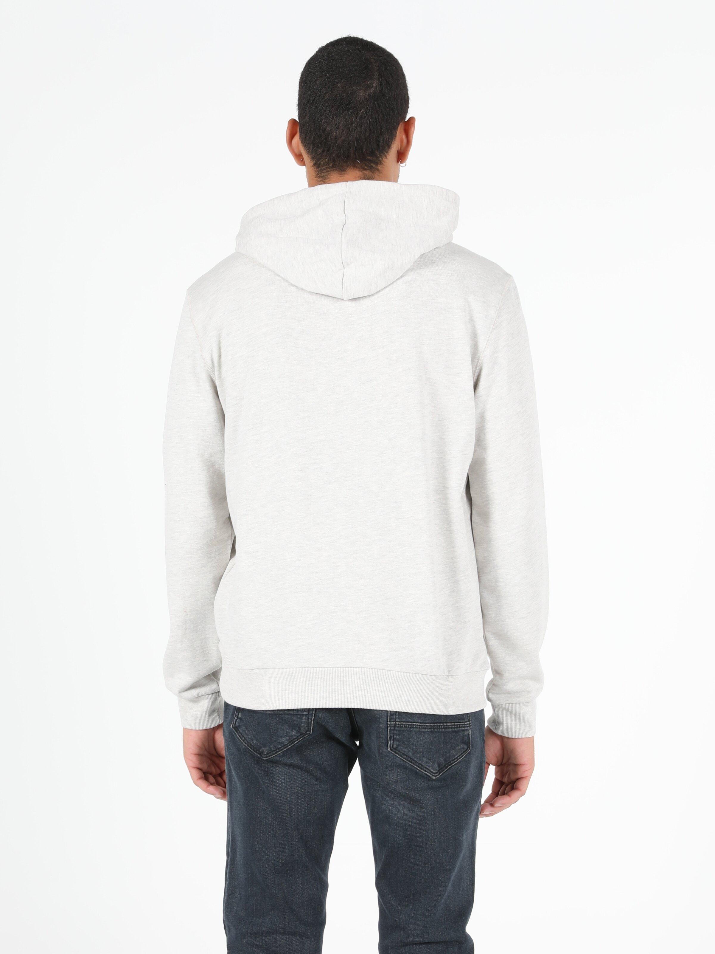 Beyaz Erkek Sweatshirt