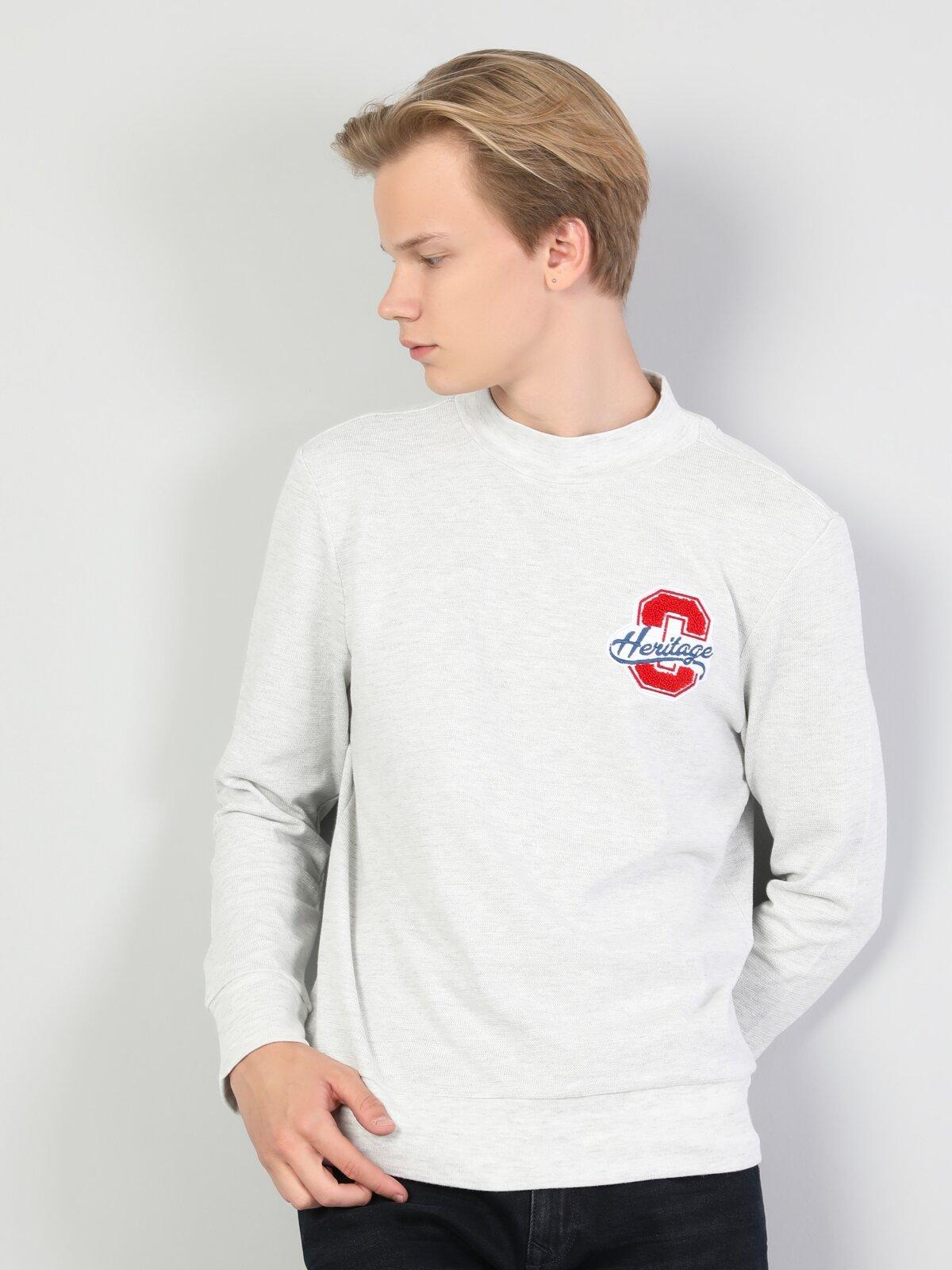 Beyaz Erkek Tshirt U.kol