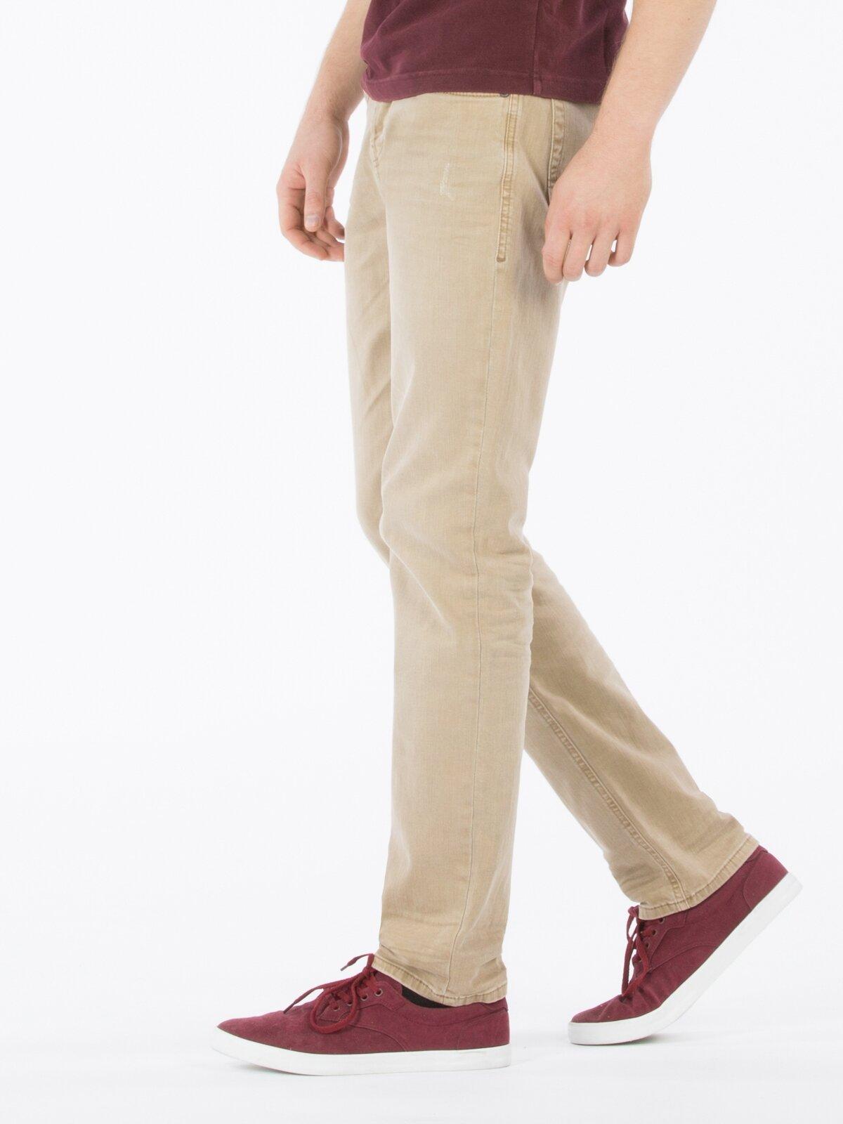 044 Karl Straight Fit Orta Bel Düz Paça  Erkek Camel Pantolon