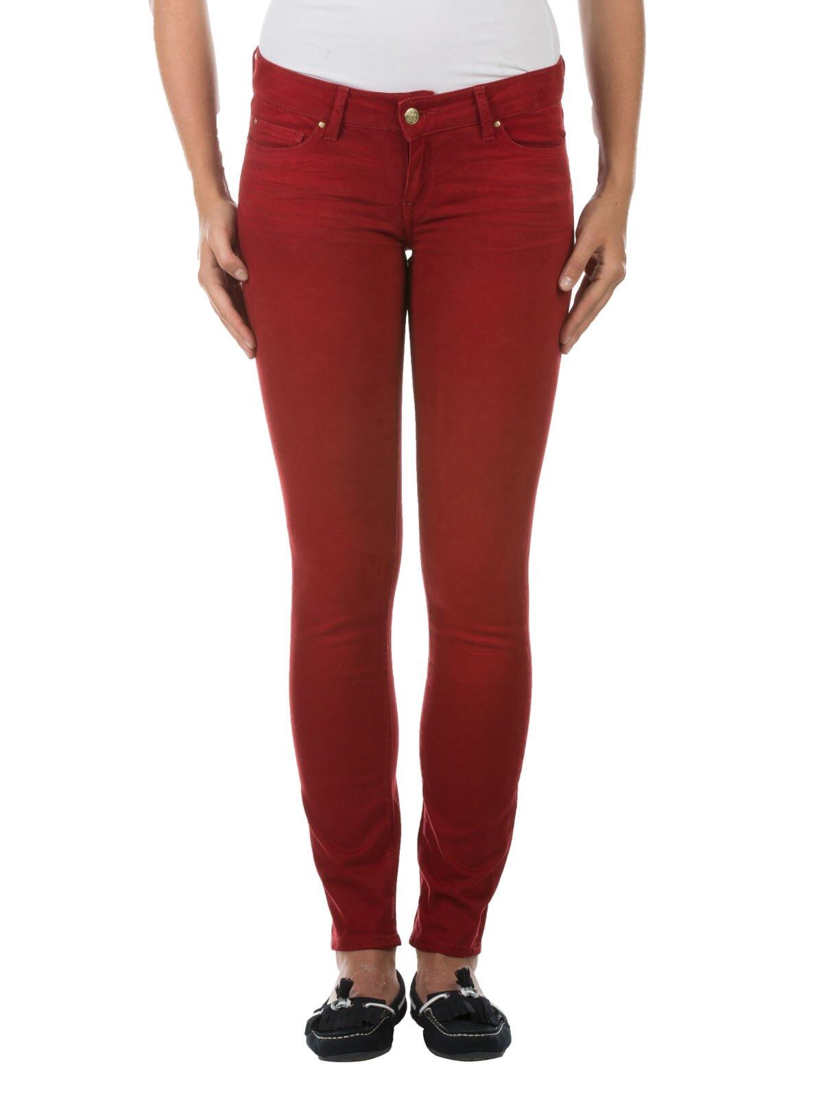 Kırmızı Kadın Chino Pantolon