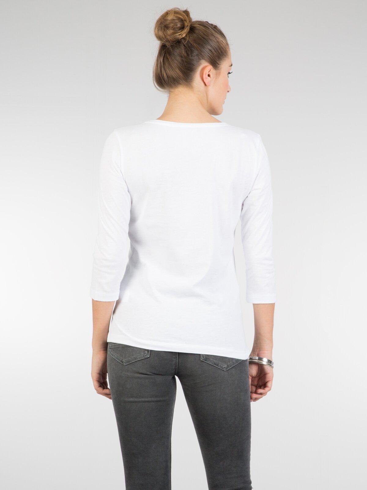 Beyaz Kadın Uzun Kol Tişört