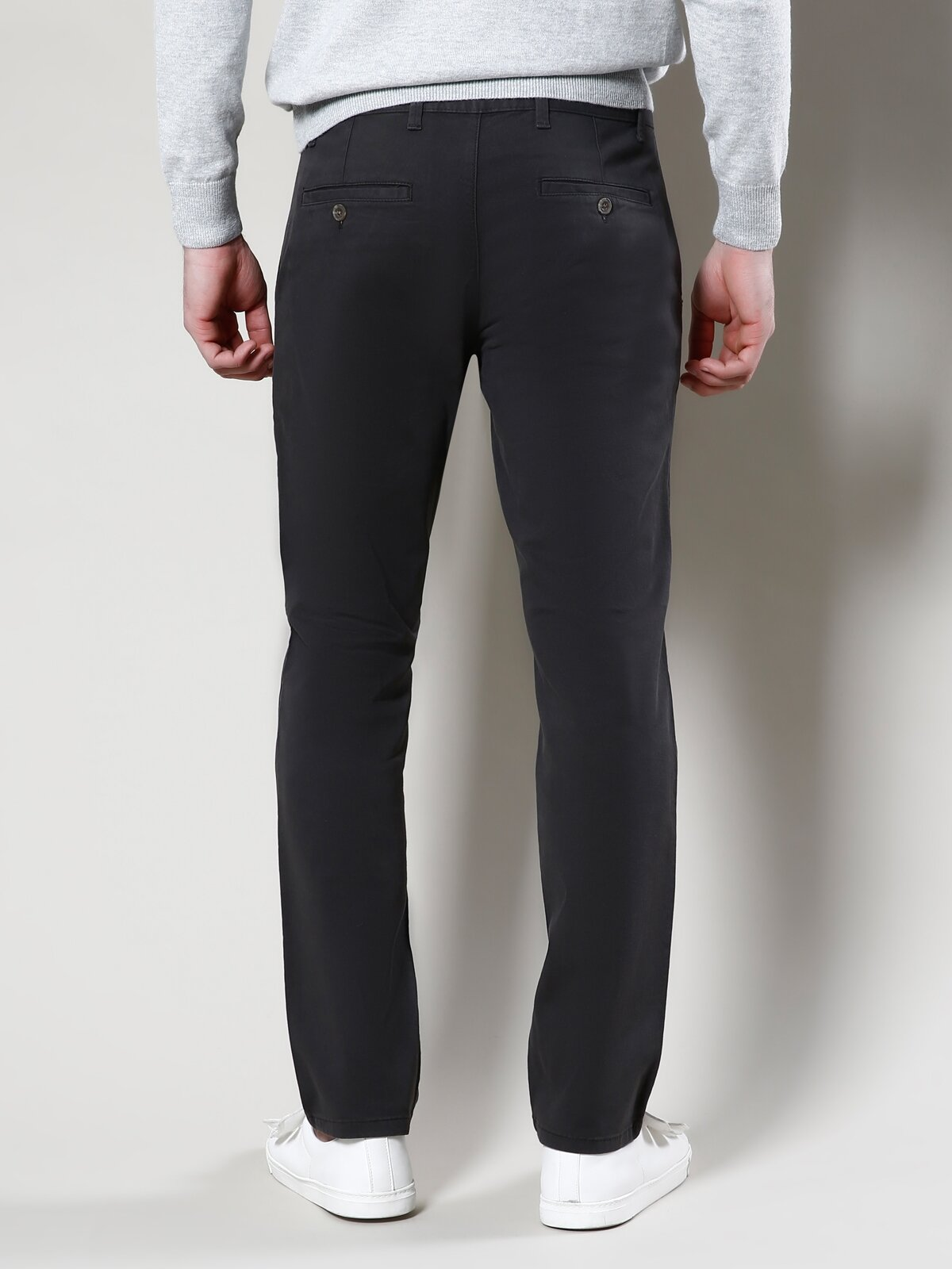 Normal Kesim Yüksek Bel Düz Paça Haki Erkek Pantolon