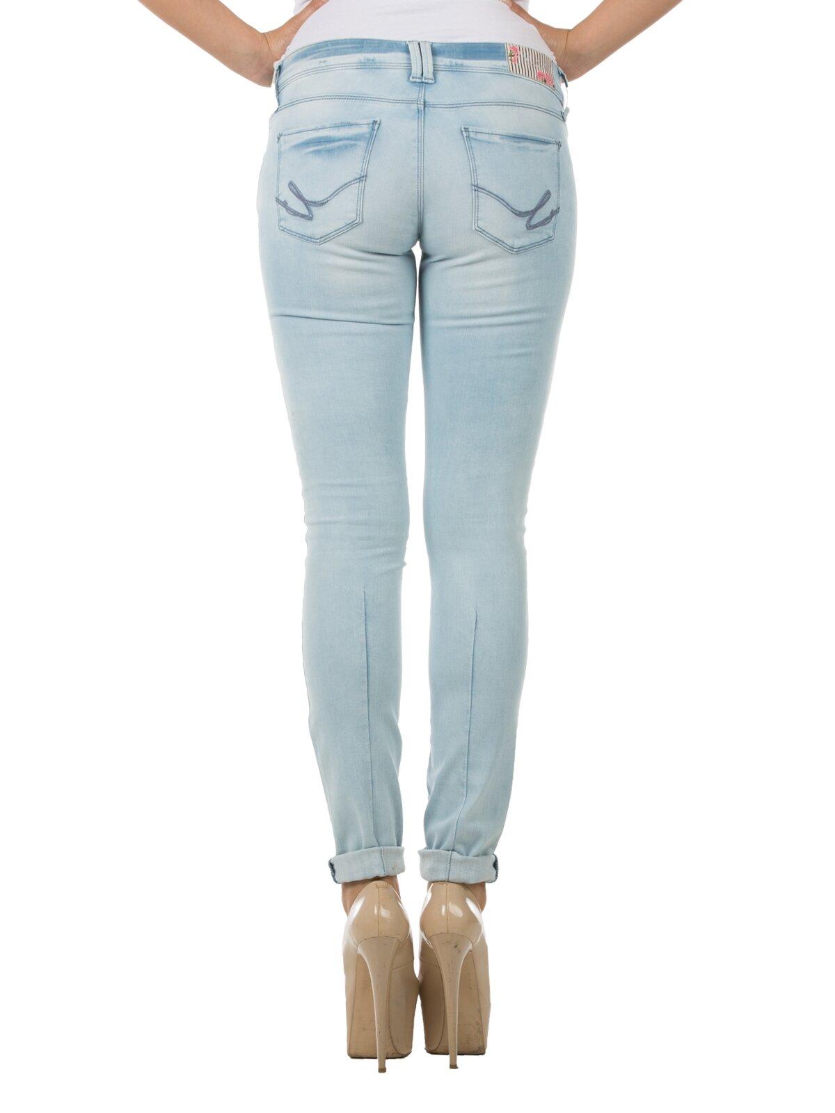 Regular Fit Düz Paça Yüksek Bel 792 Mıla Mavi Kadın Pantolon