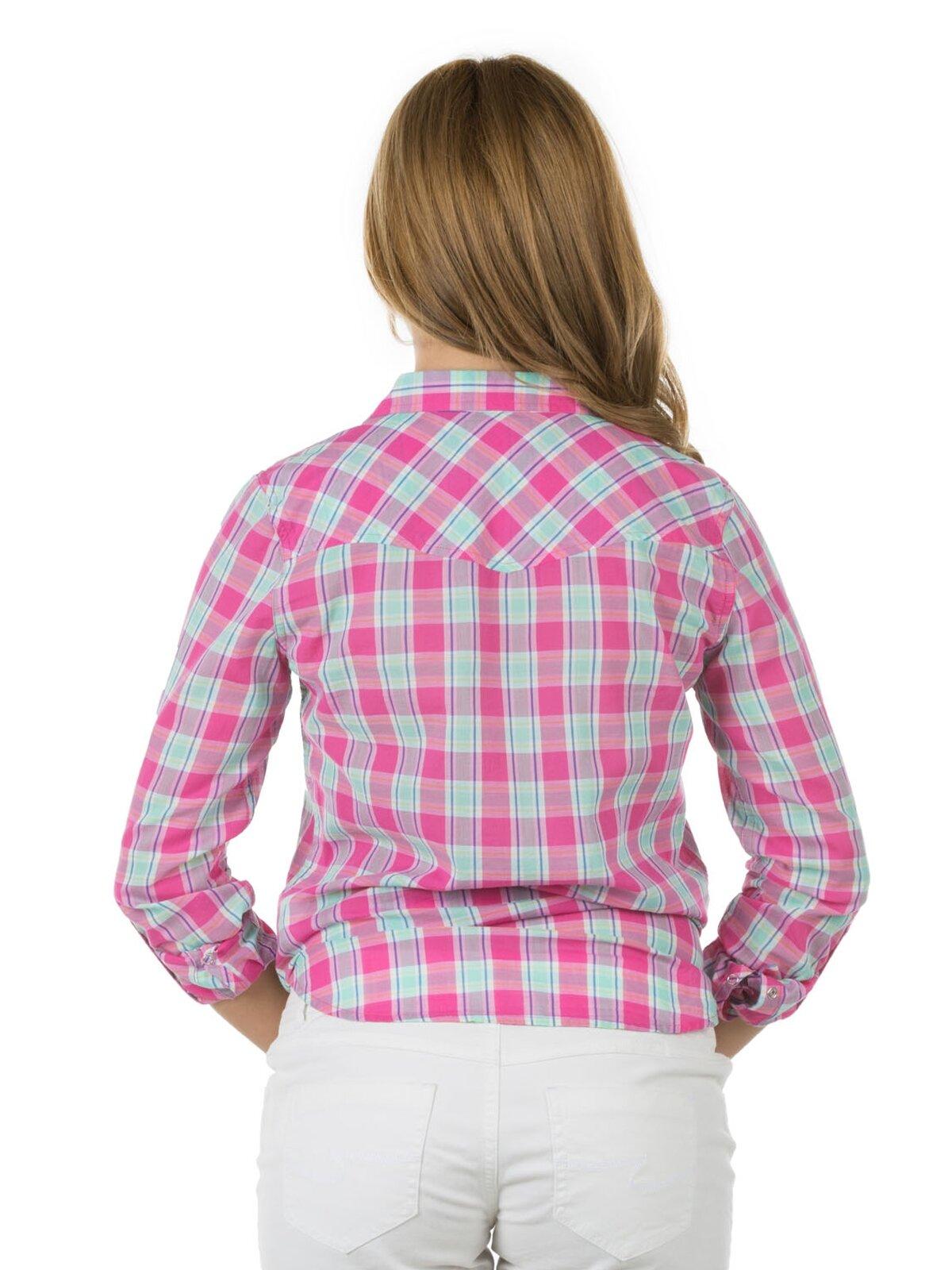 Pembe Kadın Uzun Kol Gömlek
