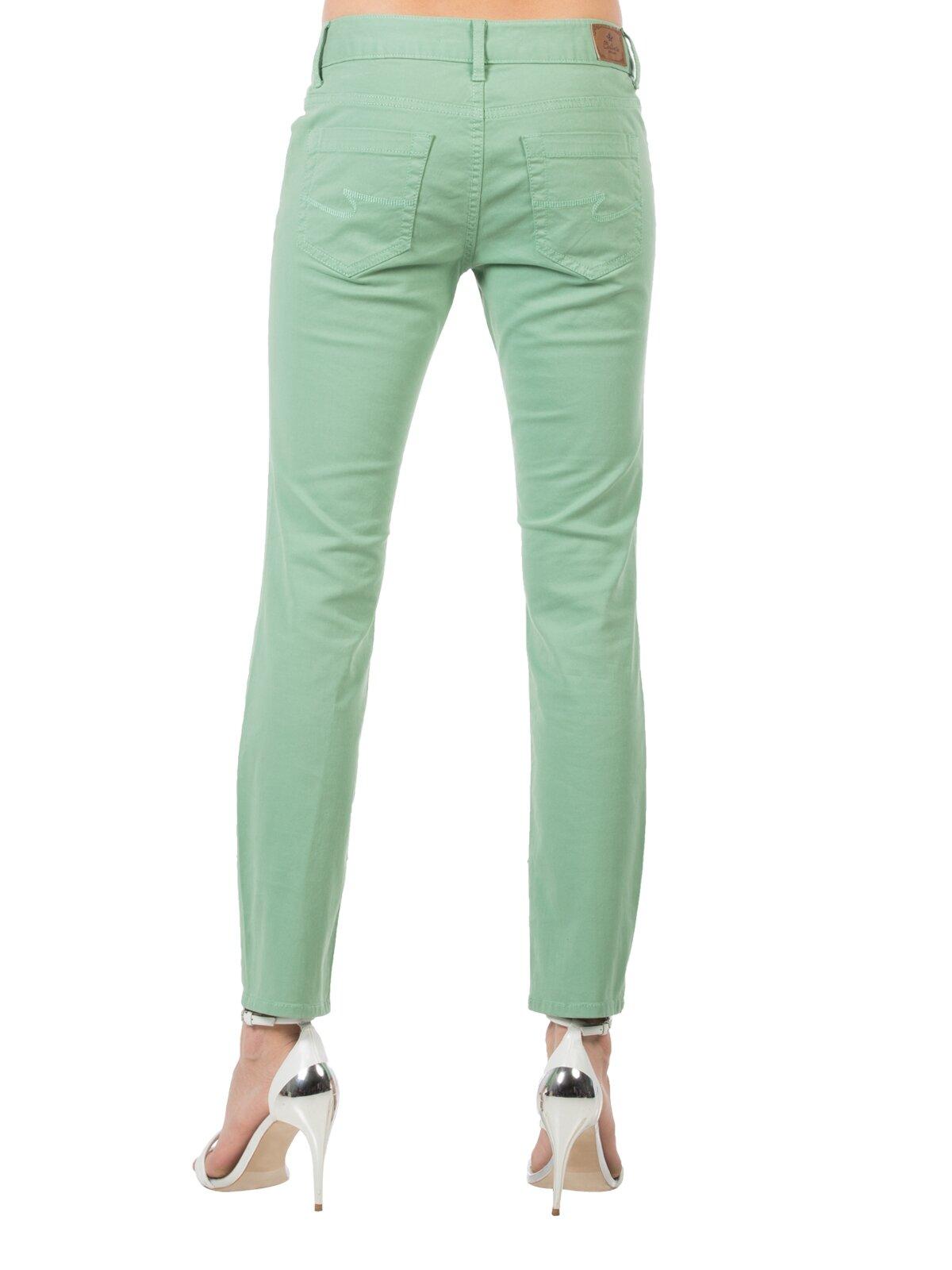 Slim Fit Dar Paça Düşük Bel Açık Mavi Kadın Pantolon
