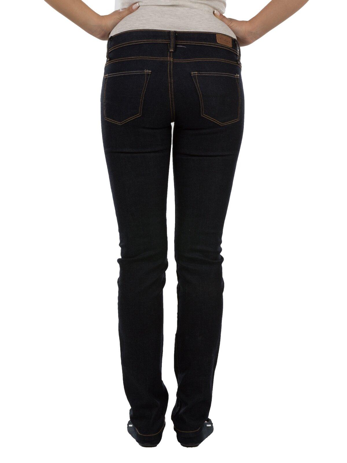 704 Anya Dar Kesim   Siyah Jean Pantolon