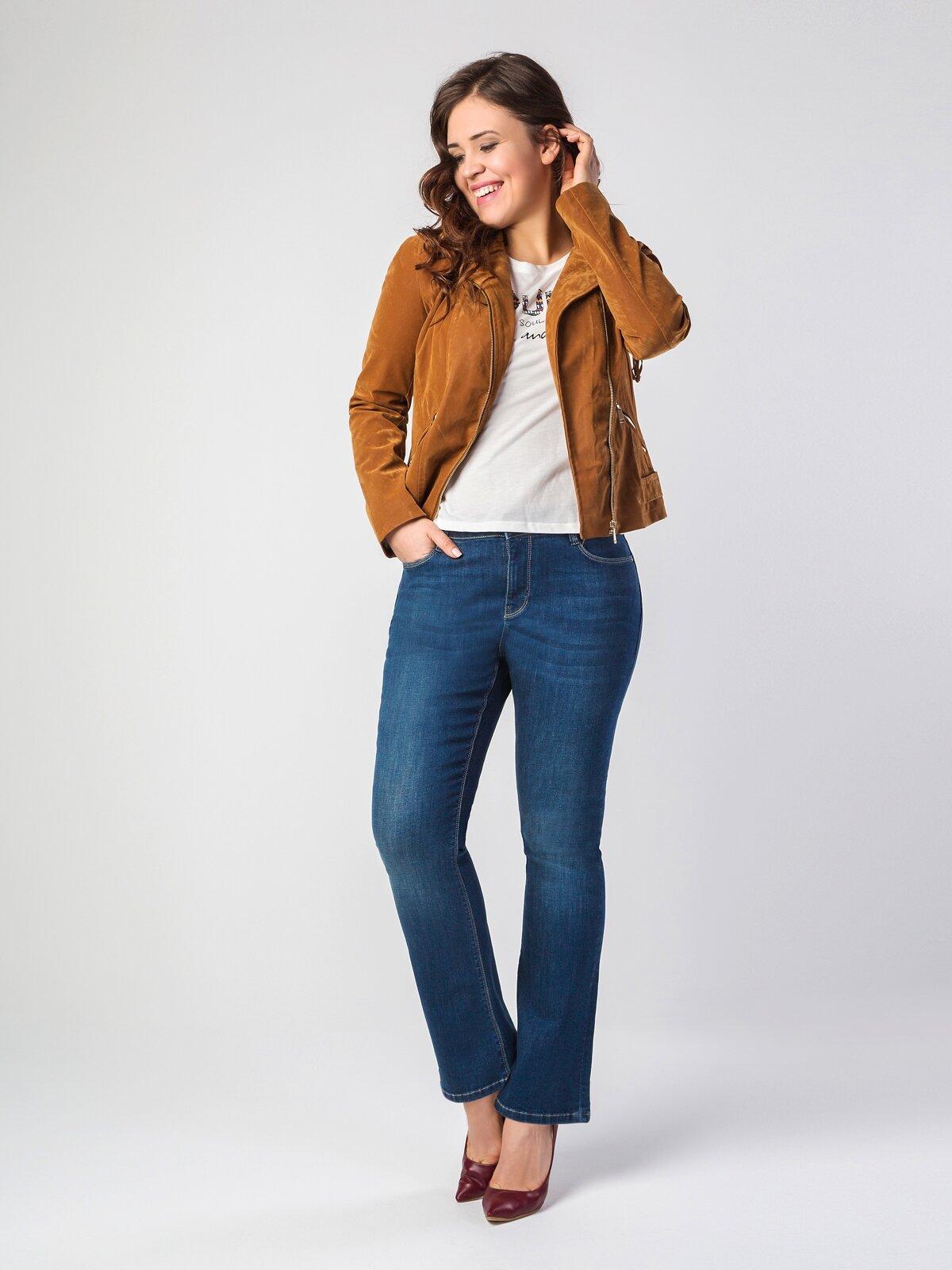 796 Jenny Normal Kesim Orta Bel Düz Paça Mavi Jean Pantolon