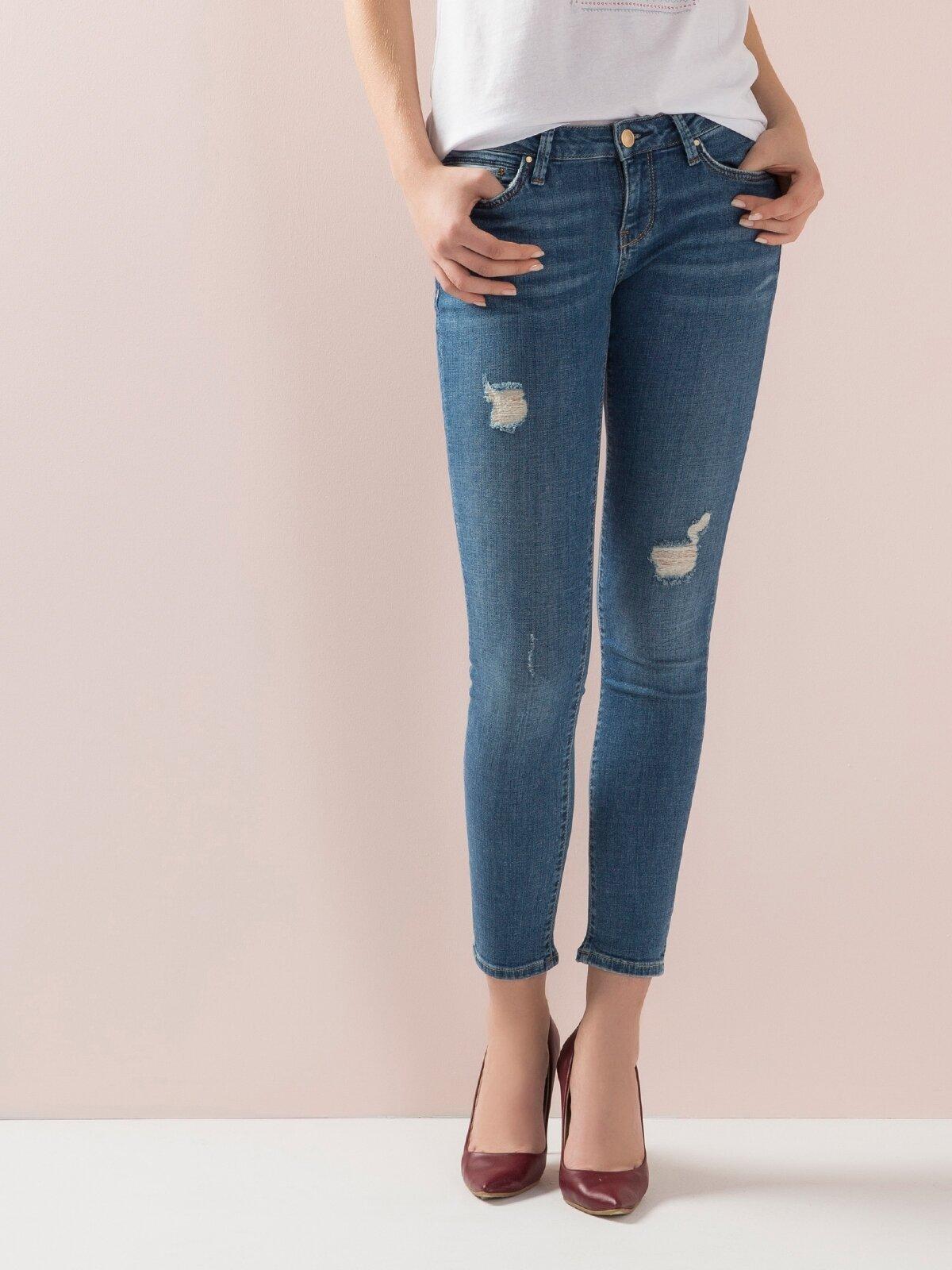 757 Sally Dar Kesim   Mavi Jean Pantolon