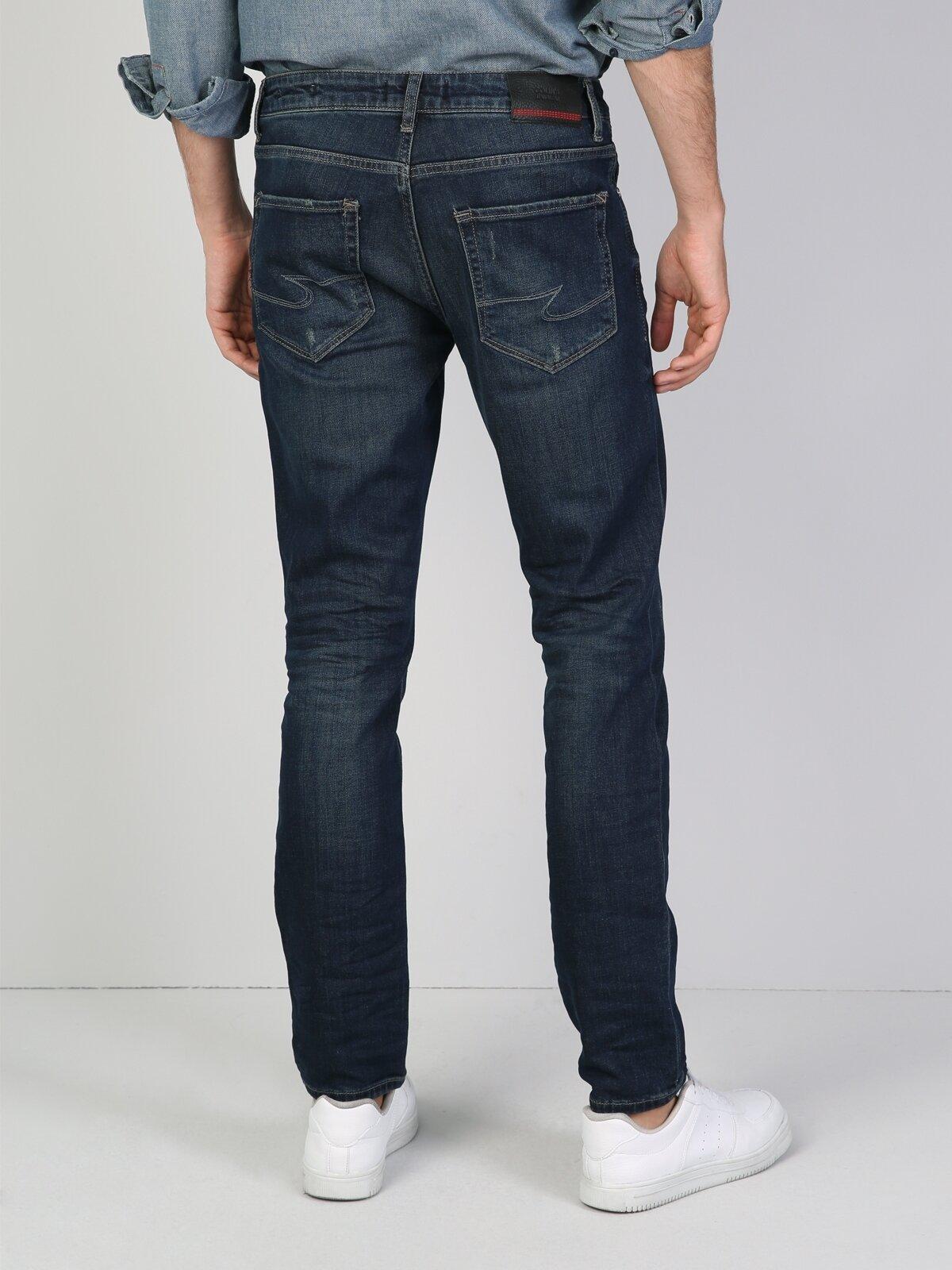 044 Karl Normal Kesim   Siyah Jean Pantolon
