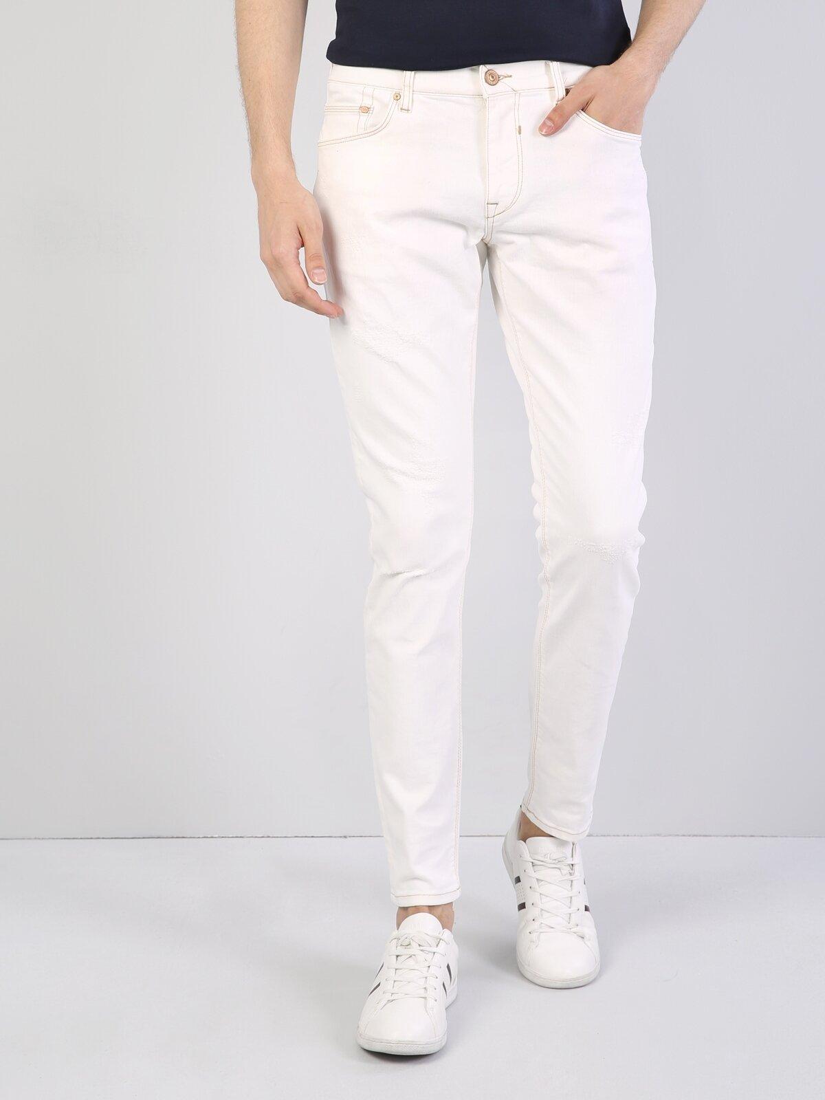 Beyaz Erkek Pantolon