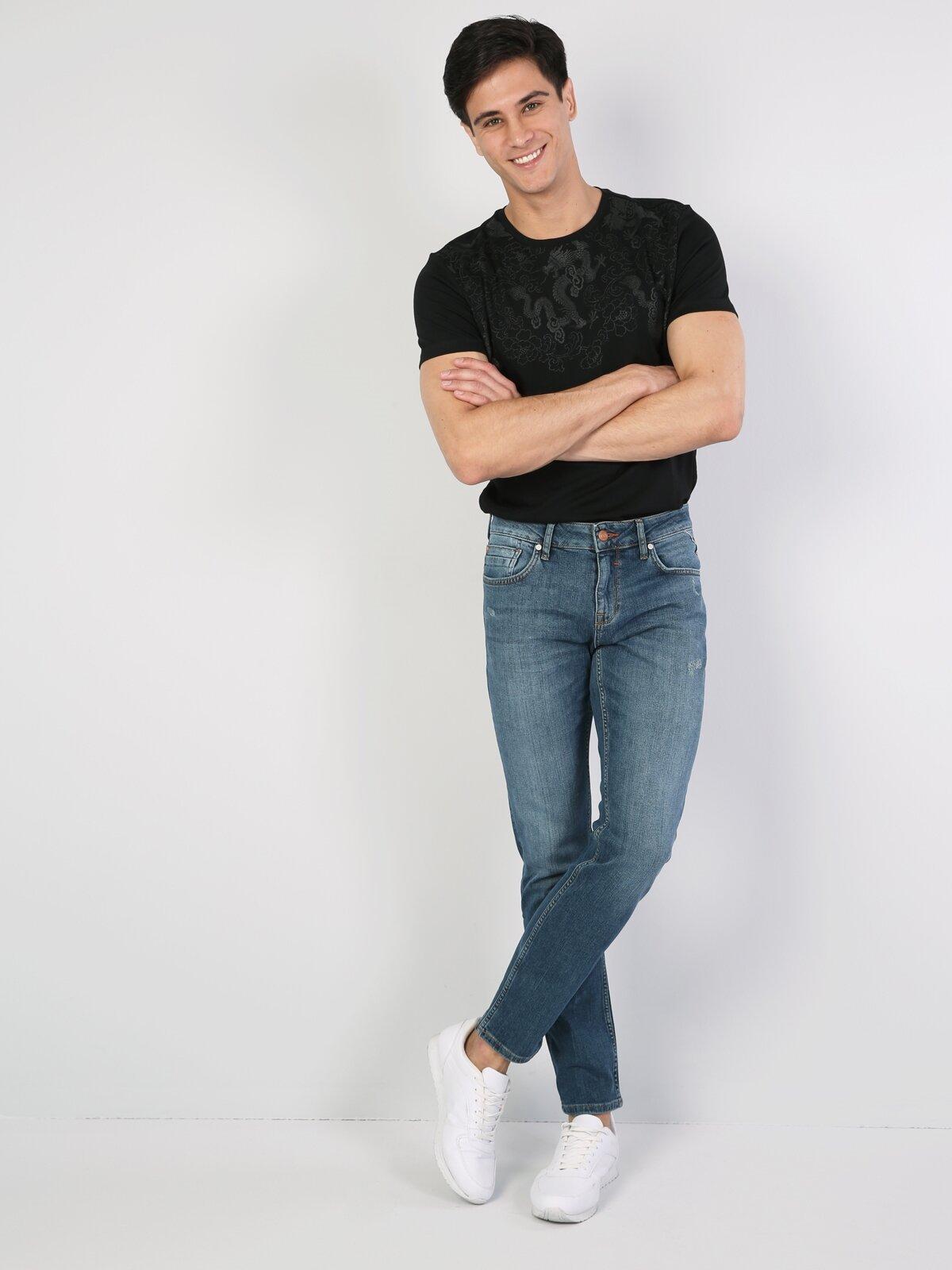 044 Karl Normal Kesim   Denim Jean Pantolon