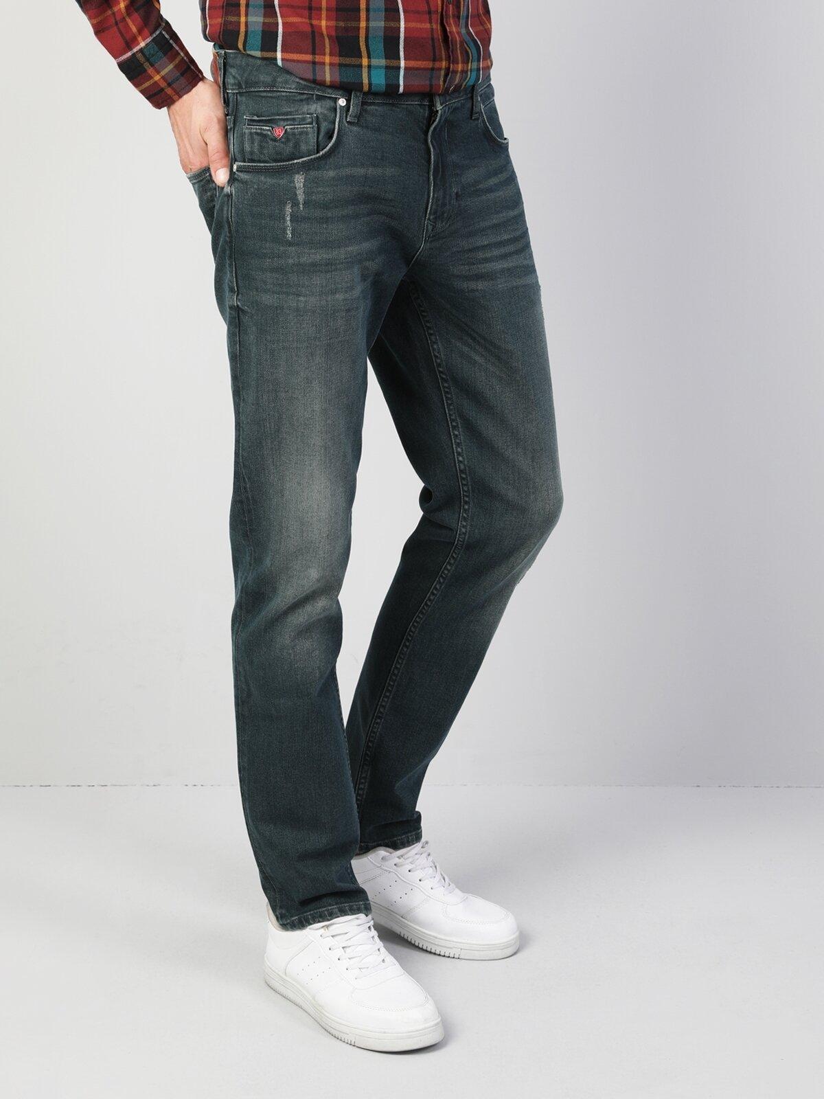 044 Karl Düz Kesim Koyu Mavi Erkek Denim Pantolon