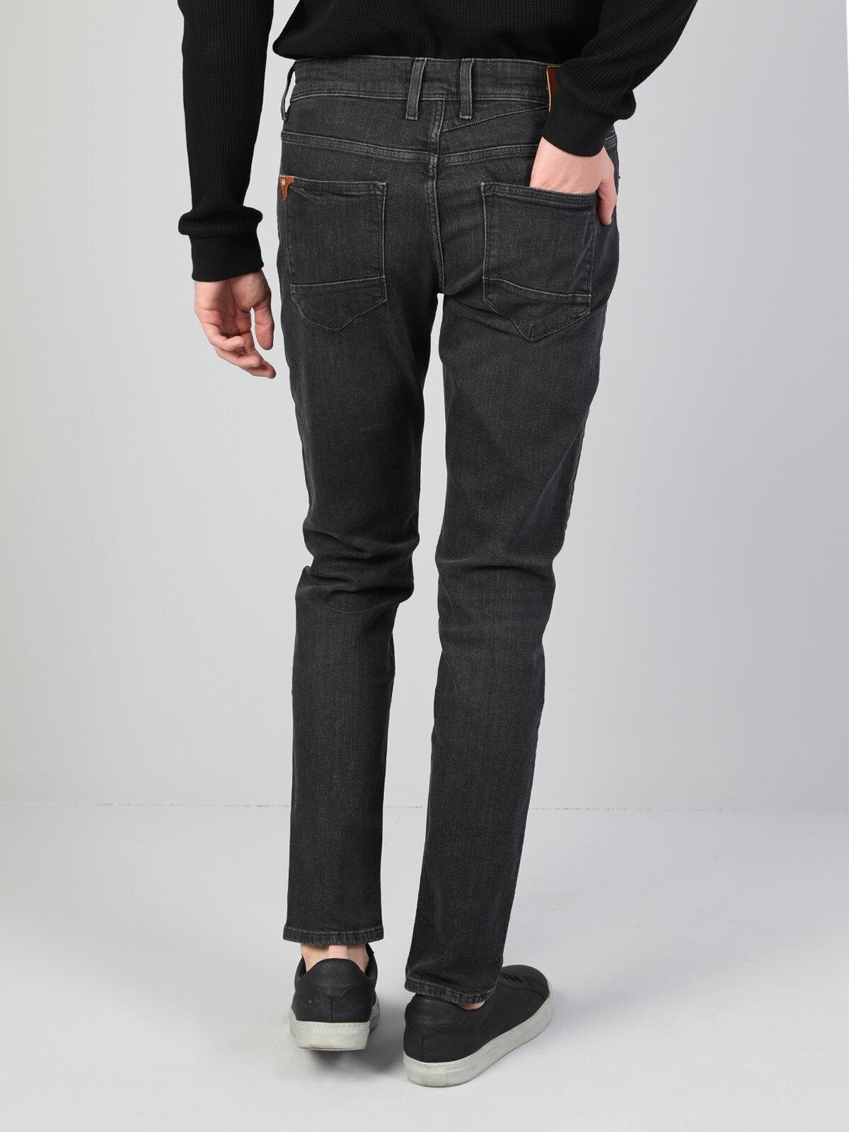 041 Danny Dar Kesim Koyu Mavi Erkek Denim Pantolon
