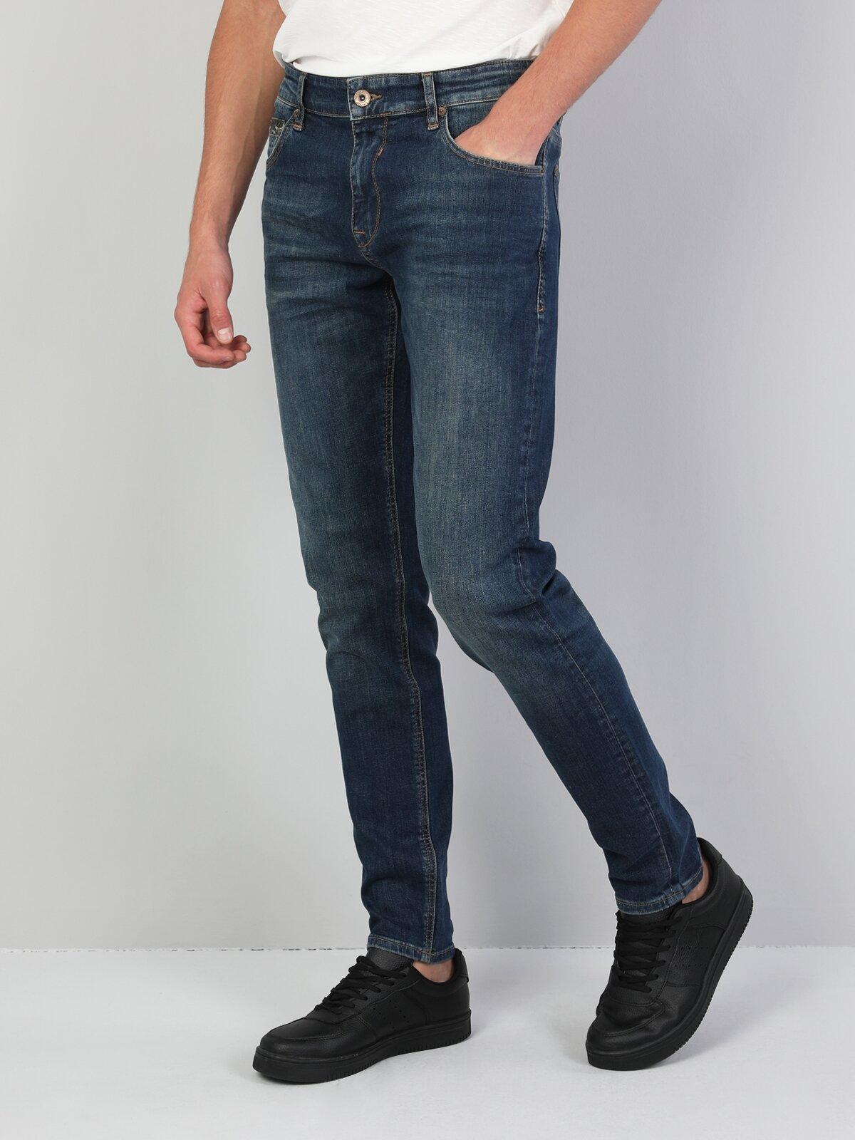 041 Danny Dar Kesim Mavi Erkek Denim Pantolon