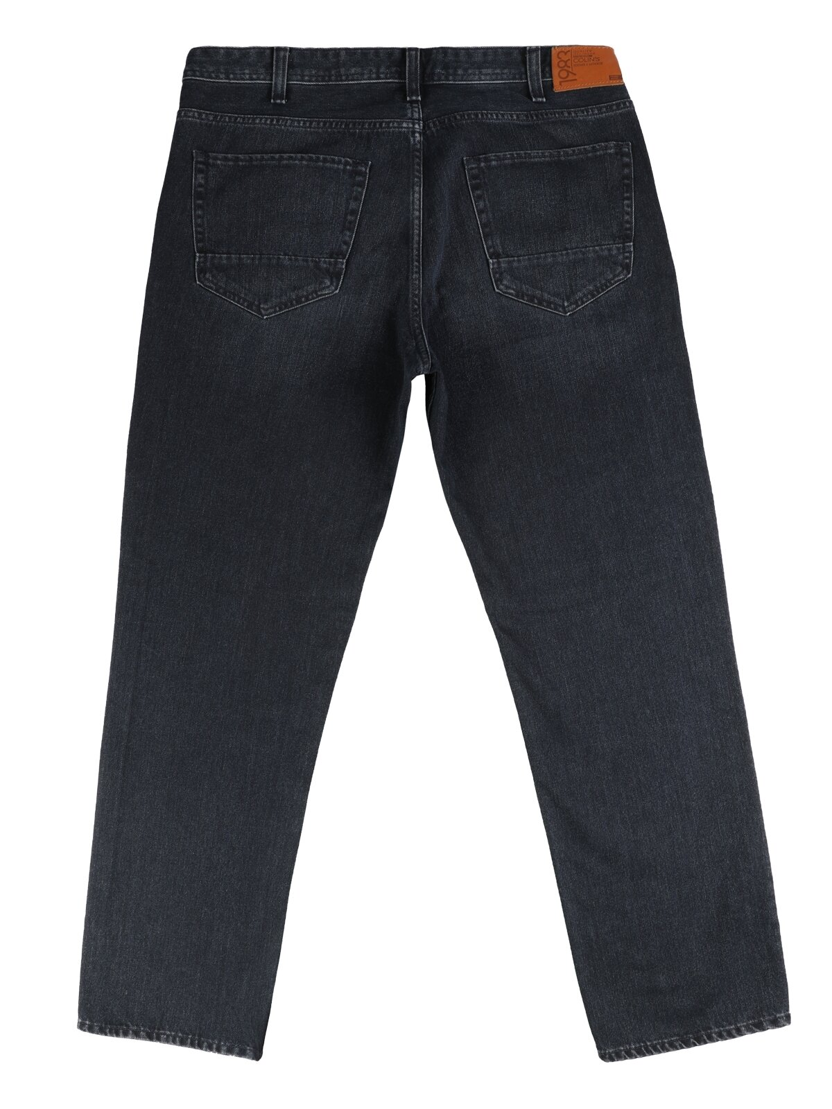 90 Tom Normal Kesim Orta Bel Düz Paça Erkek Lacivert Jean Pantolon
