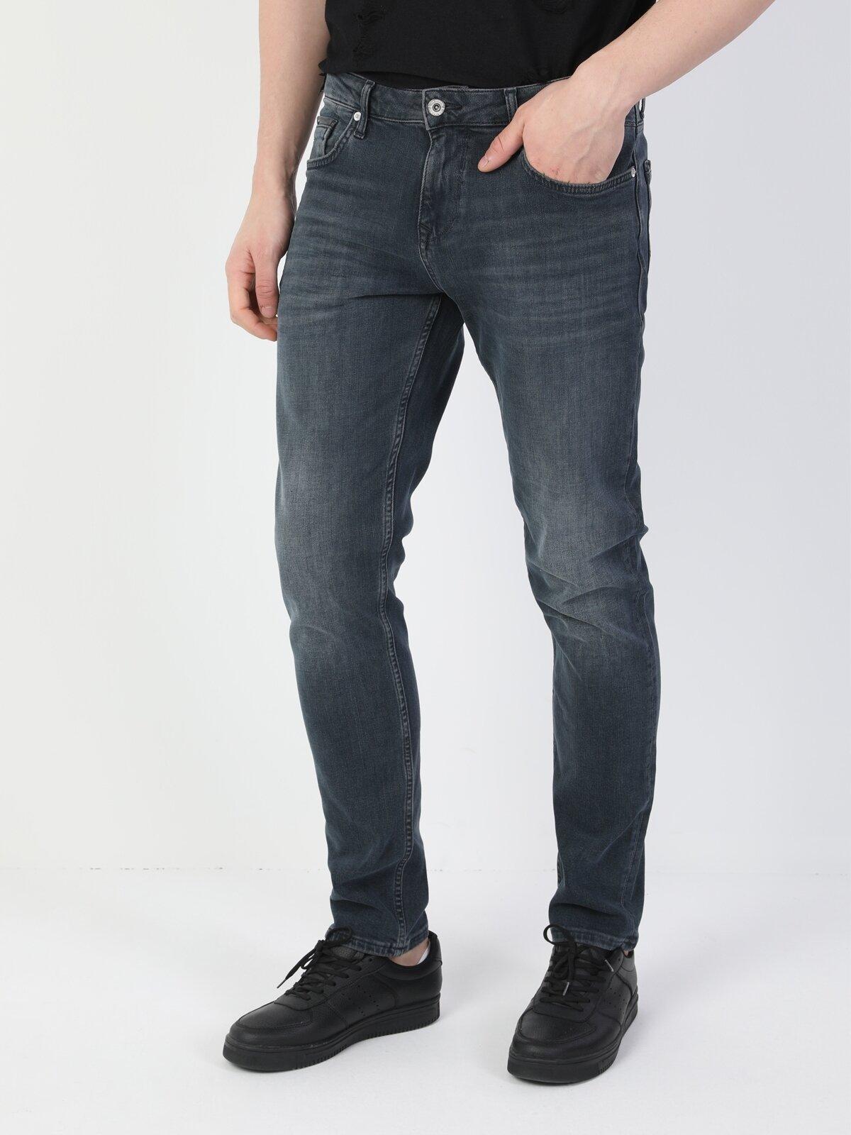044 Karl Düz Kesim Düşük Bel Düz Paça Koyu Mavi Erkek Pantolon