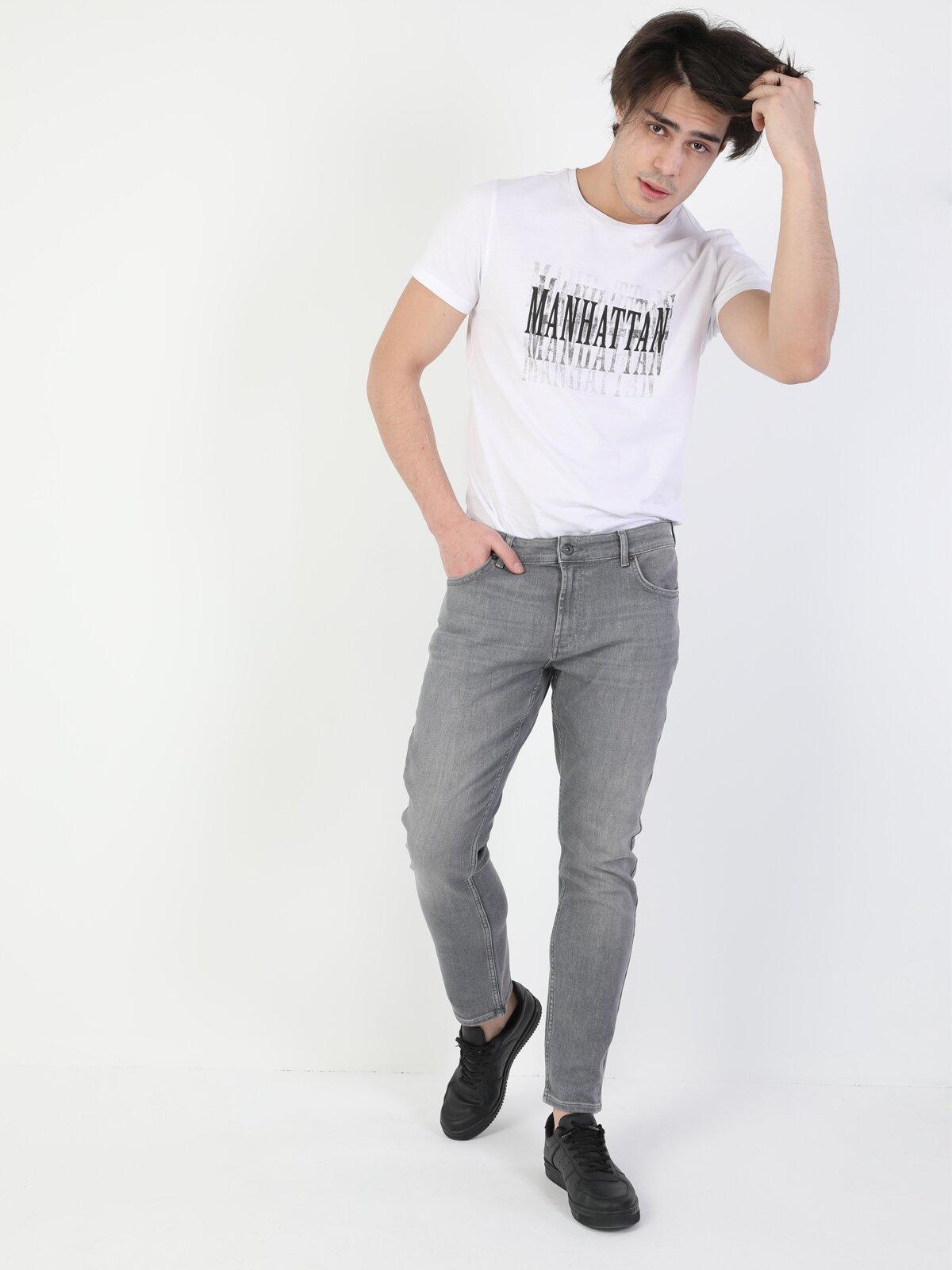 Açık Gri Erkek Pantolon