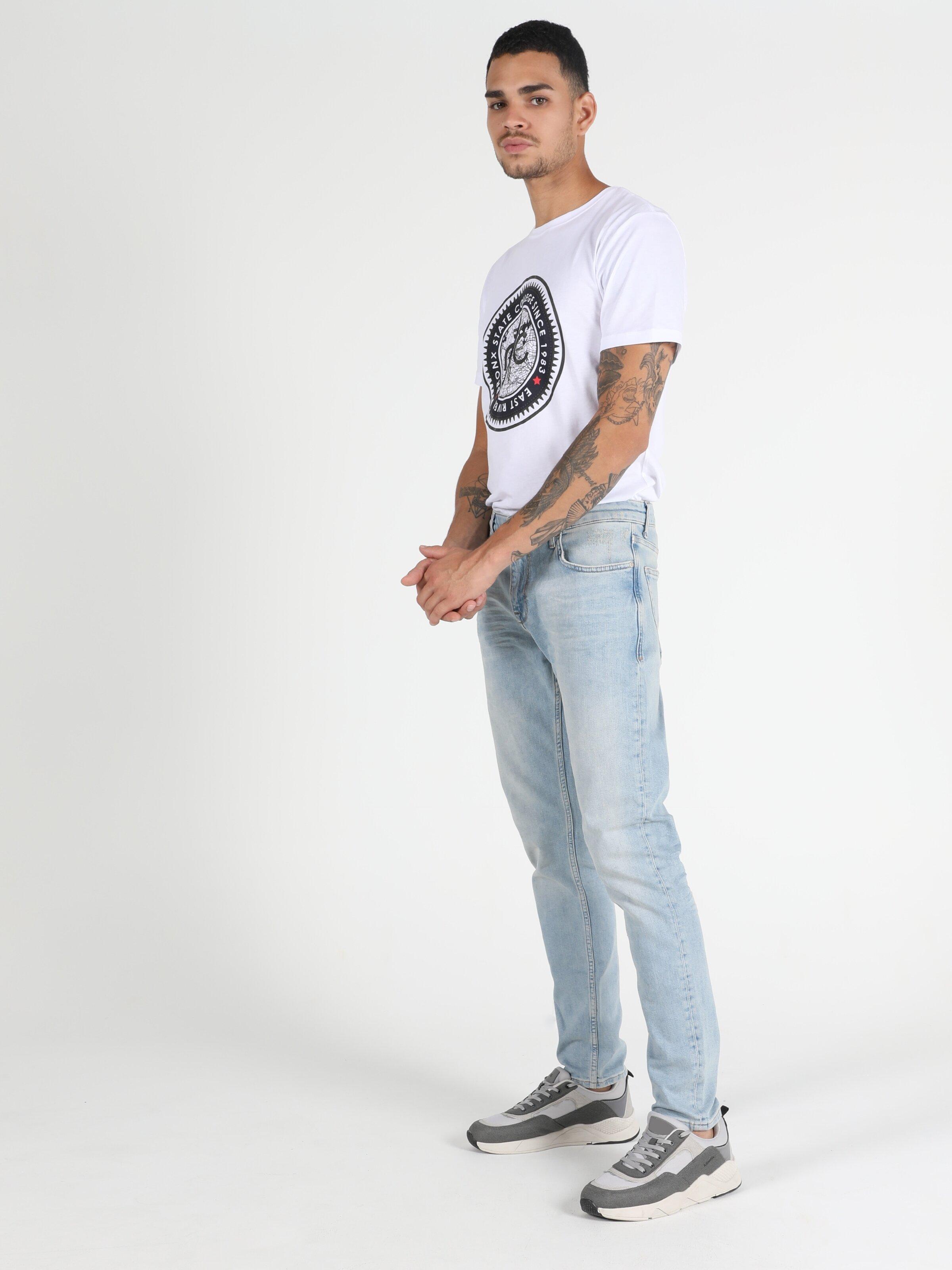 Slim Fit Dar Paça Düşük Bel 041 Danny Erkek Jean Pantolon
