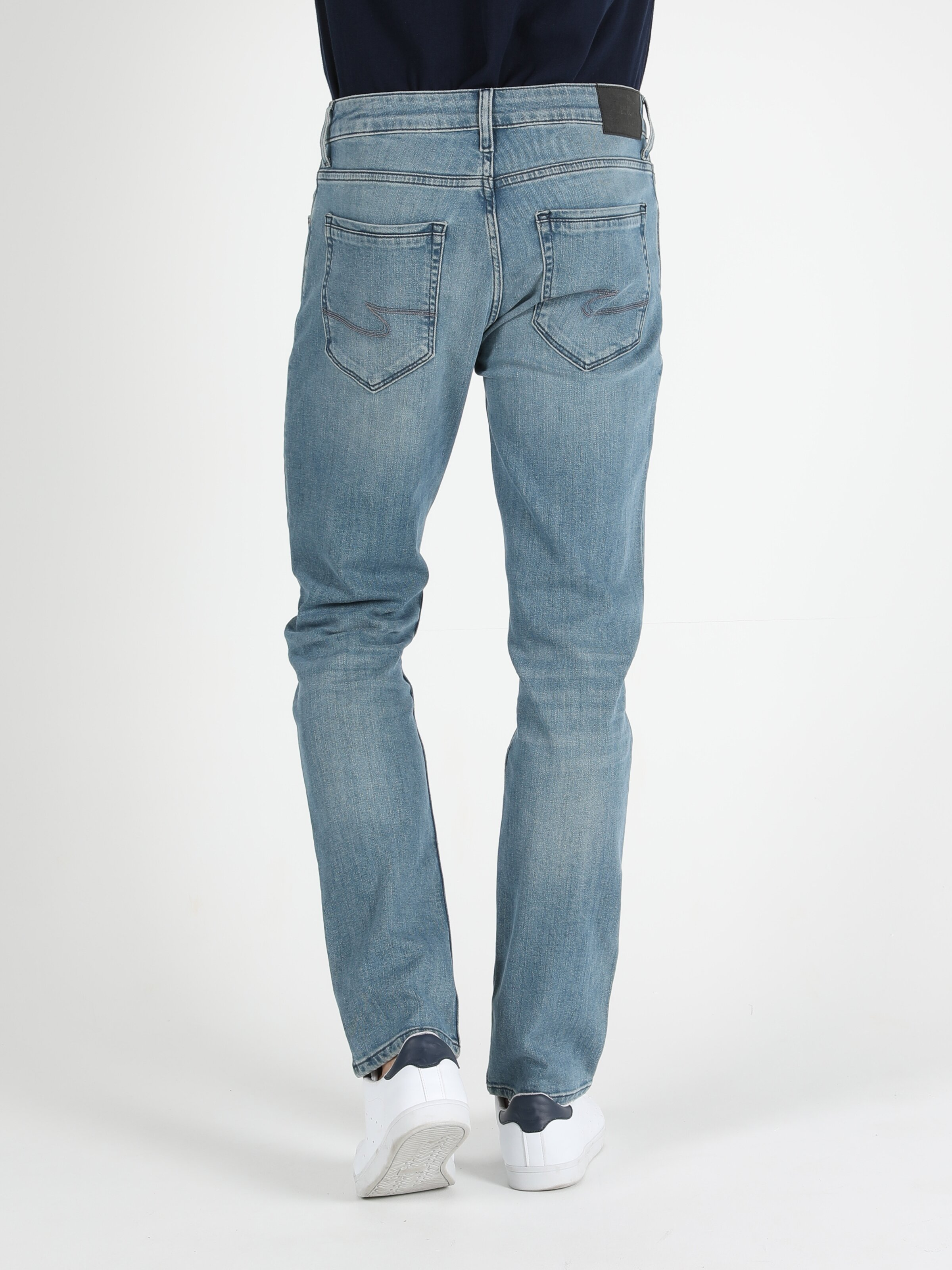 Straight Fit Düz Paça Düşük Bel 044 Karl Erkek  Erkek Jean Pantolon