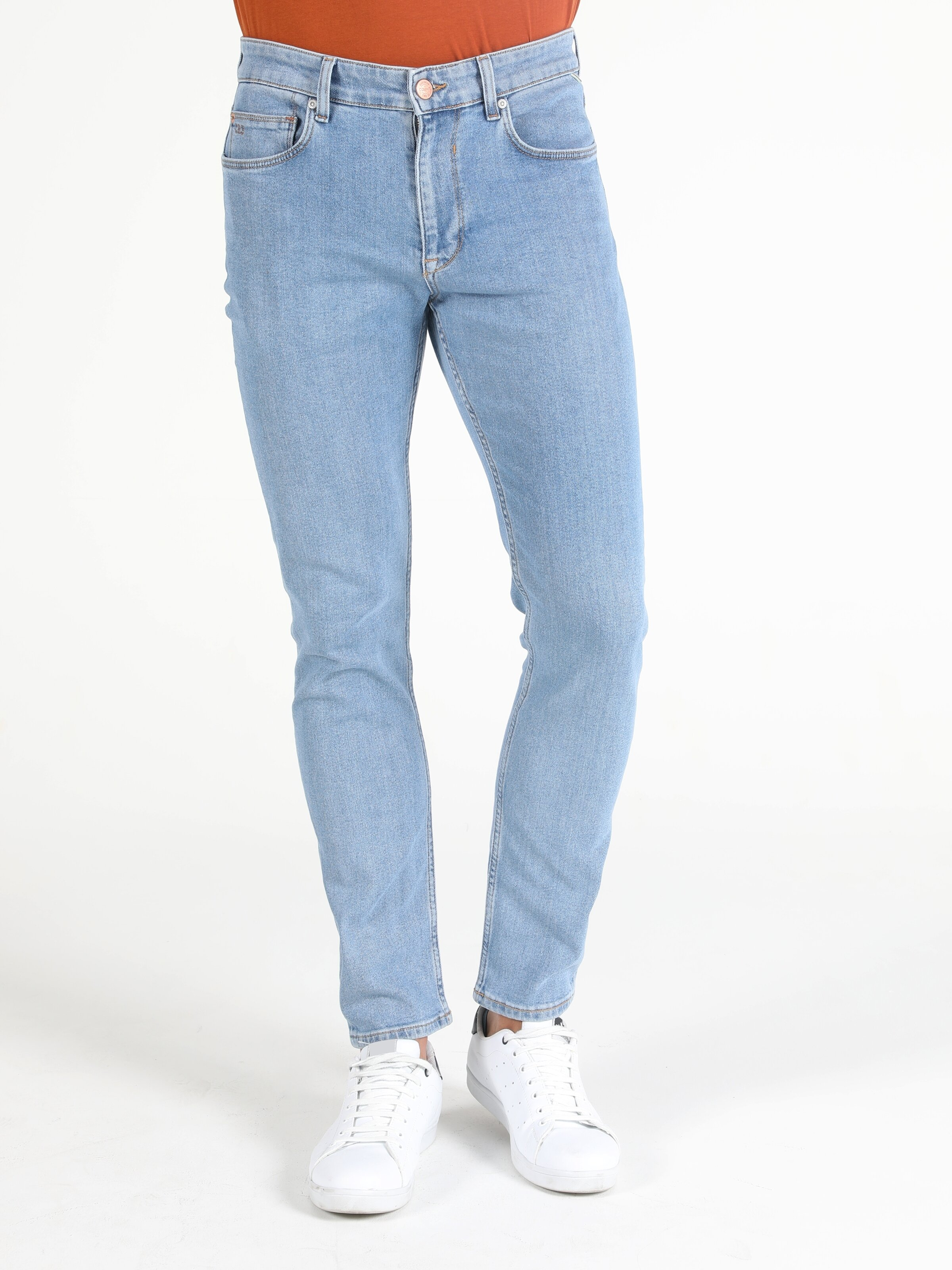 Skinny Fit Dar Paça Yüksek Bel 035 Ryan Erkek Jean Pantolon