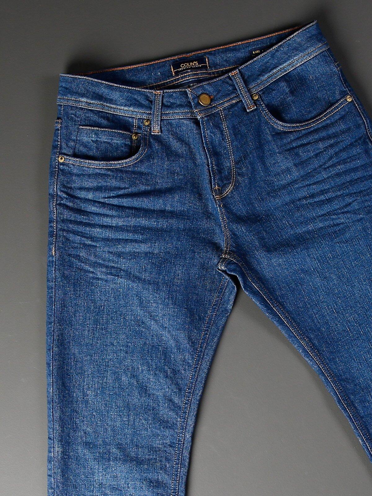 044 Karl Normal Kesim Düşük Bel Düz Paça Mavi Jean Pantolon