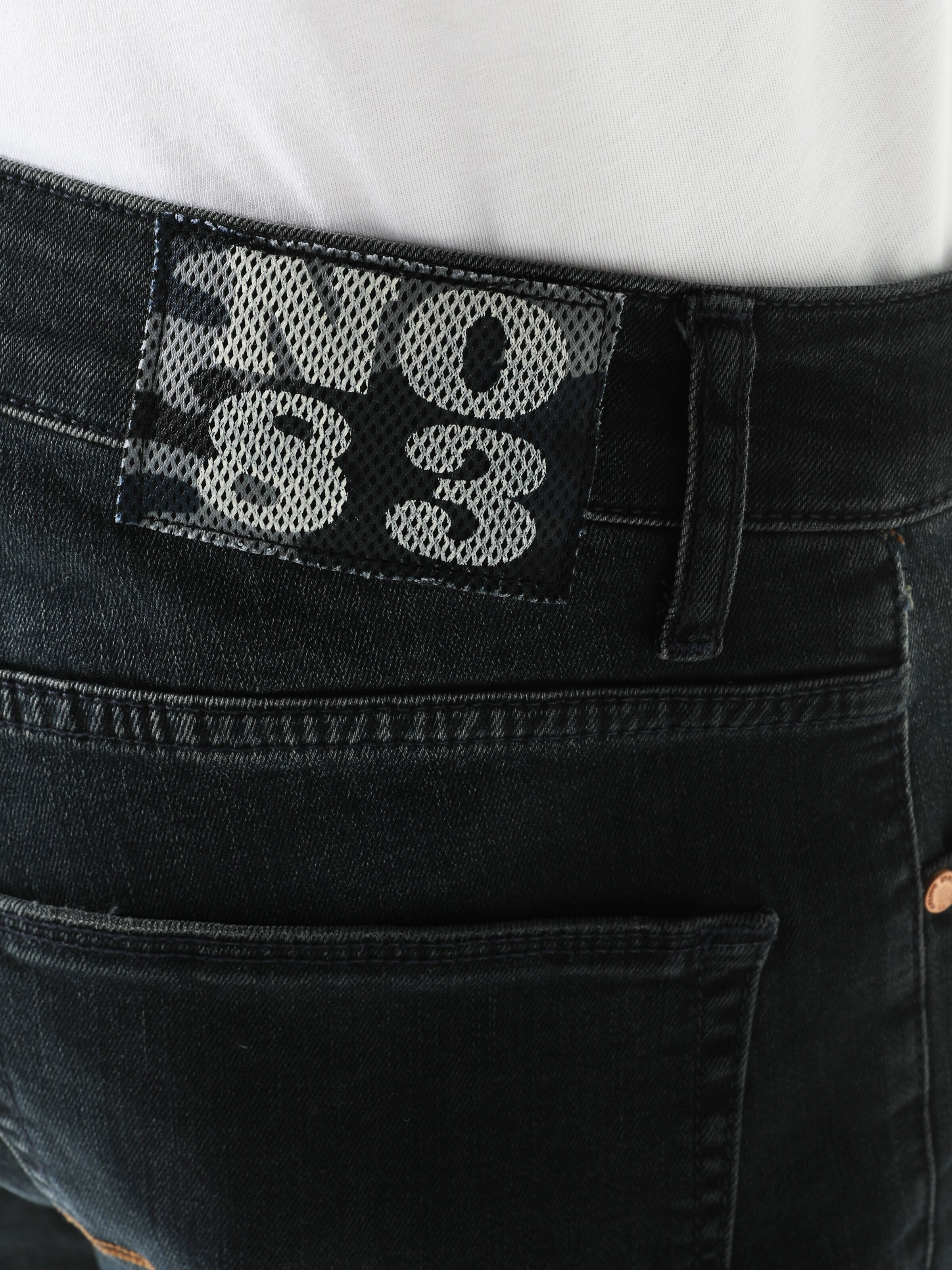 044 Karl Düşük Bel Orta Straight Fit Jean Erkek Jean Şort