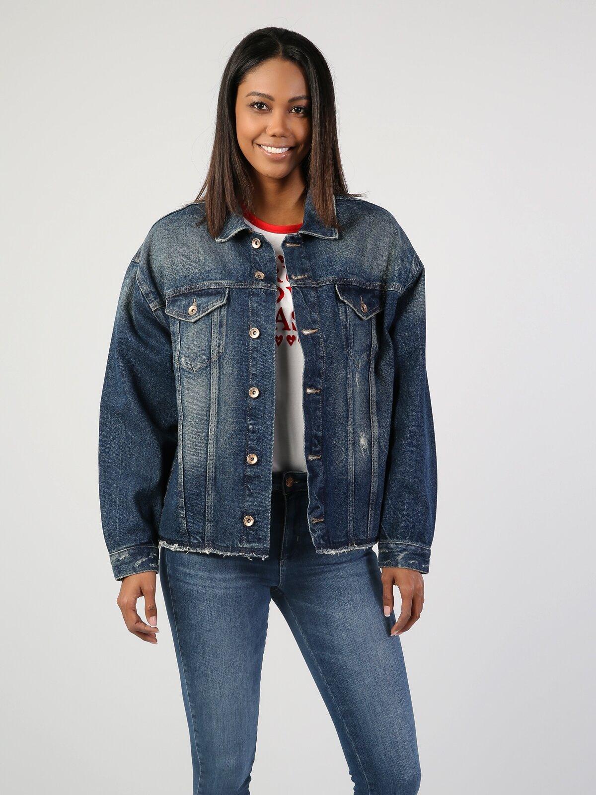 Mavi Kadın Jean Ceket