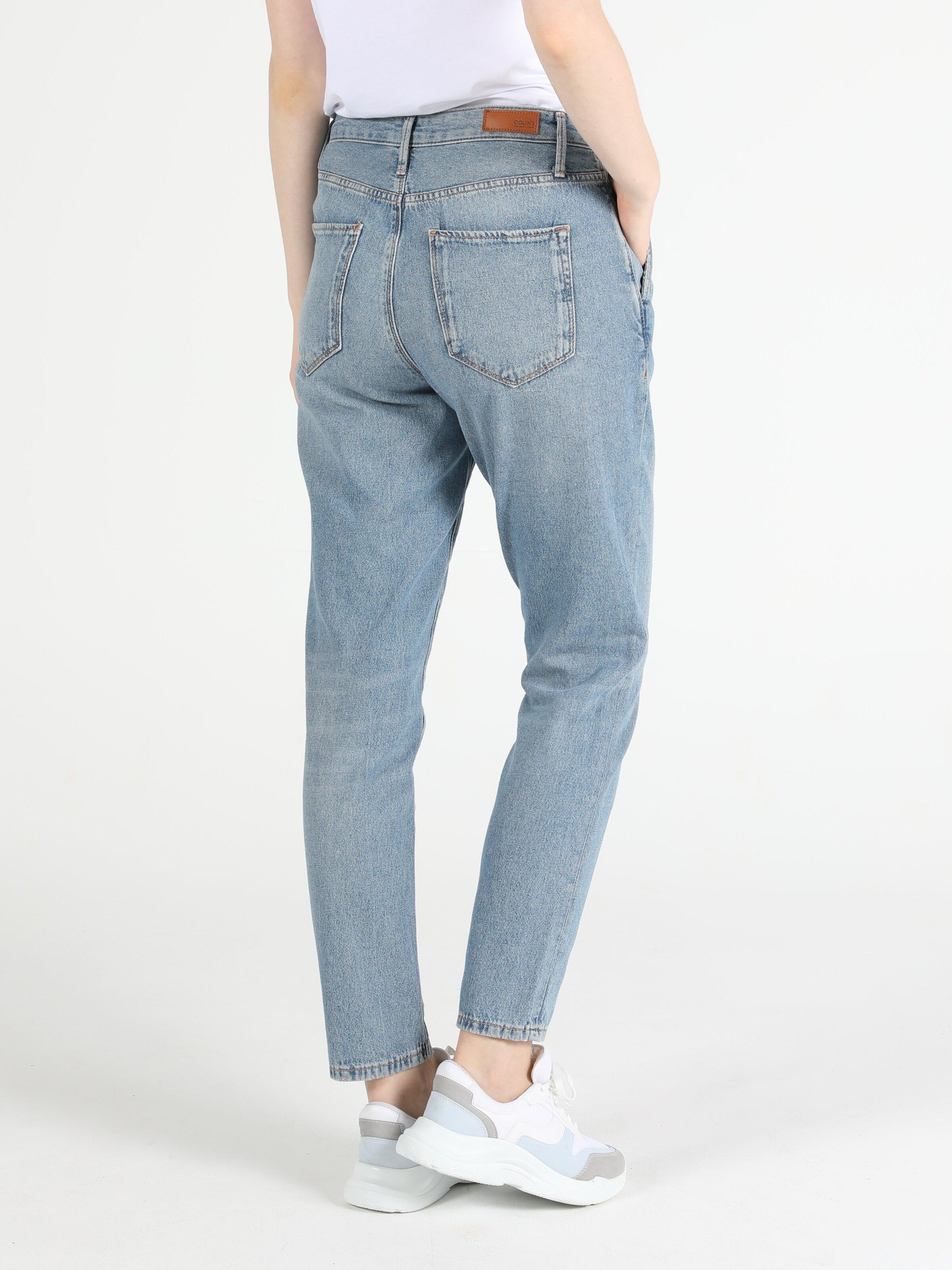 Tesa Orta Bel Daralan Paça Chıno Jean Kadın Jean Pantolon