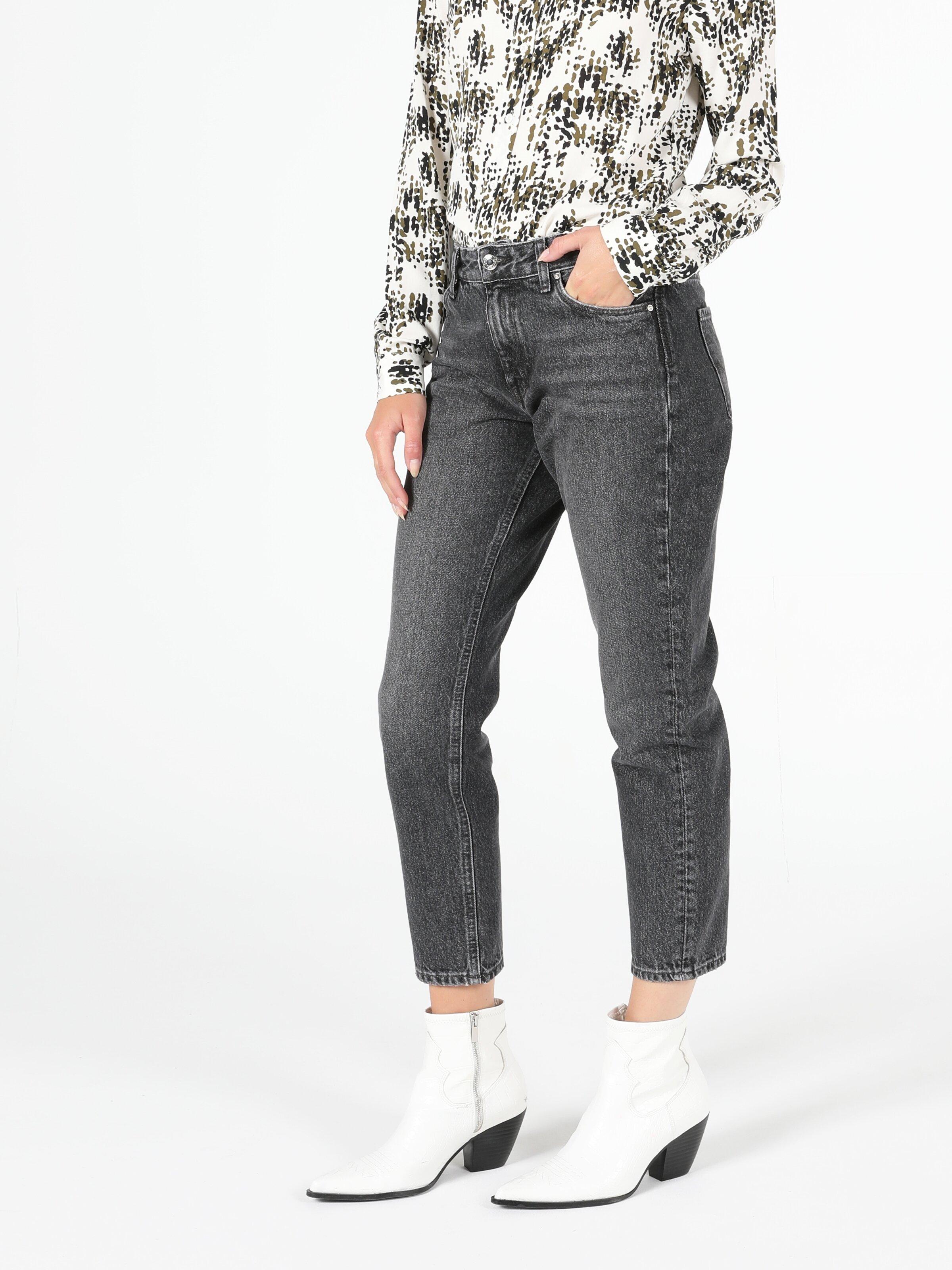 891 Maya Orta Bel Daralan Paça Slim Fit Jean Kadın Jean Pantolon