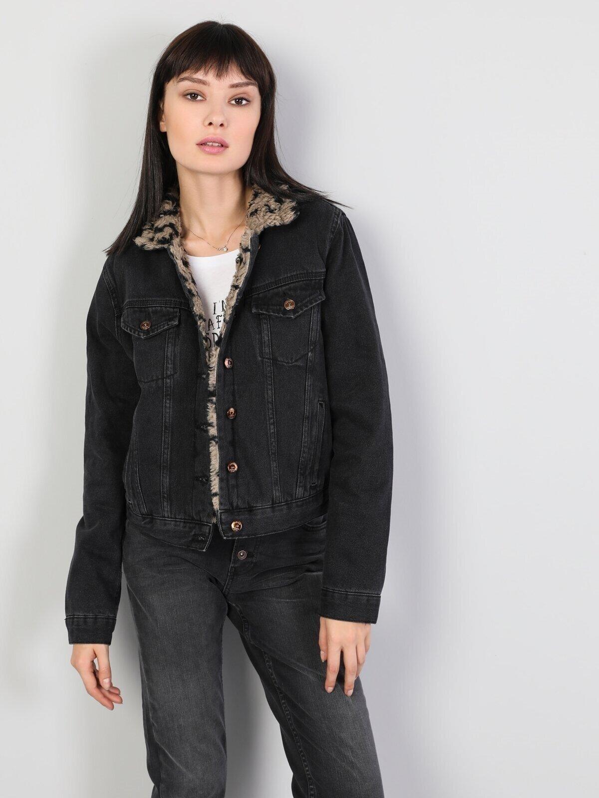 210 Rona Regular Fit  Kadın Koyu Gri Ceket