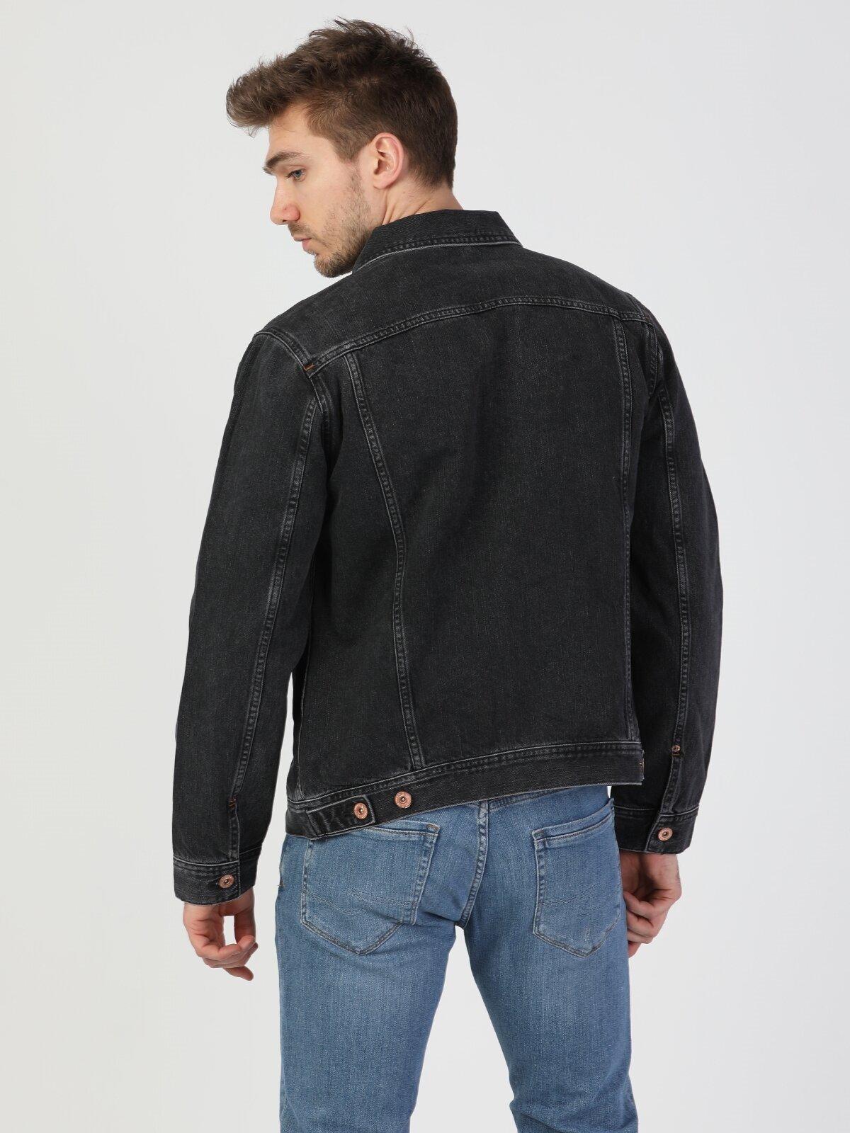 Regular Fit 020 Mice Siyah Erkek Jean Ceket