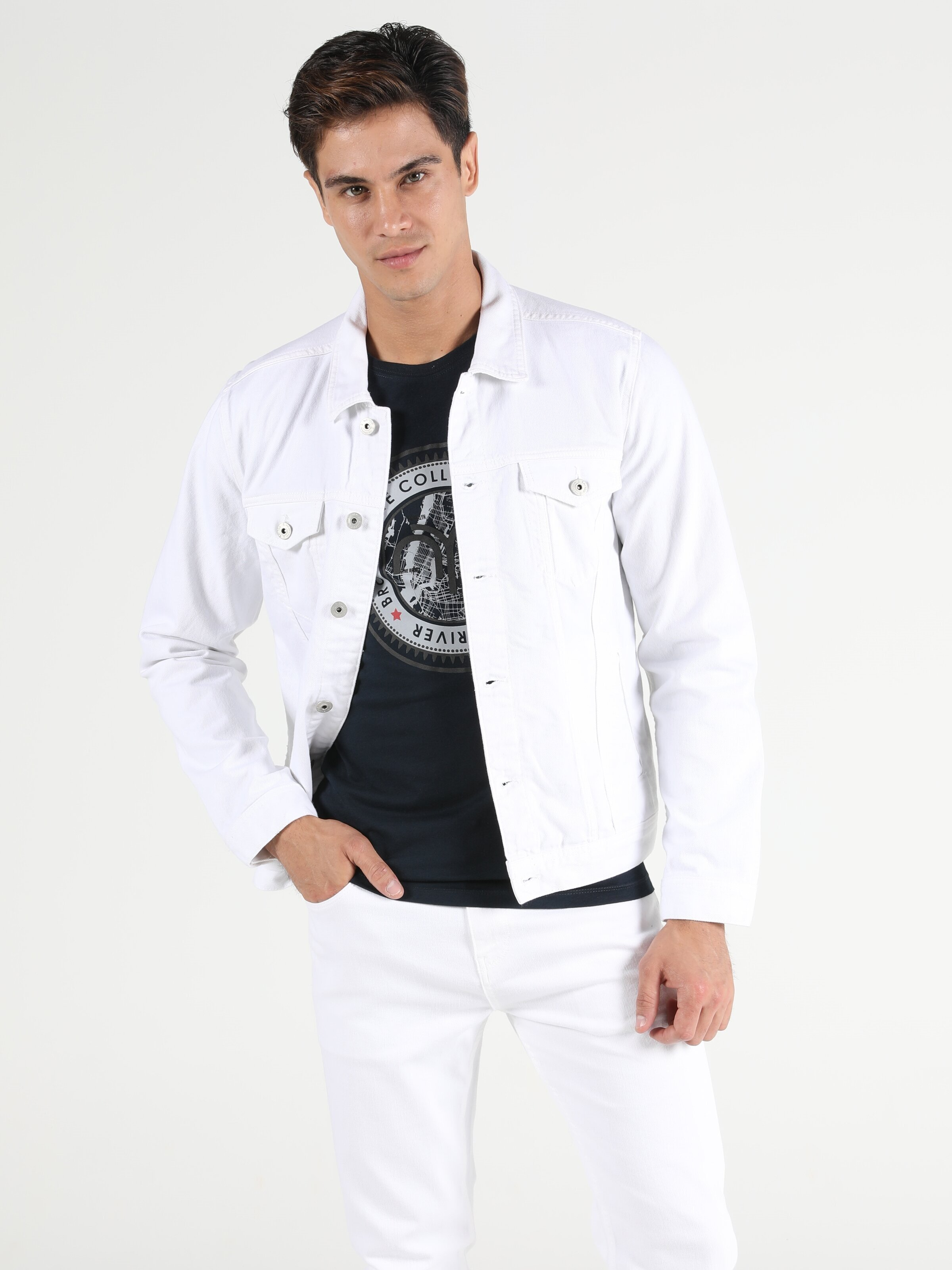 020 Mıce   Regular Fit  Erkek Jean Ceket
