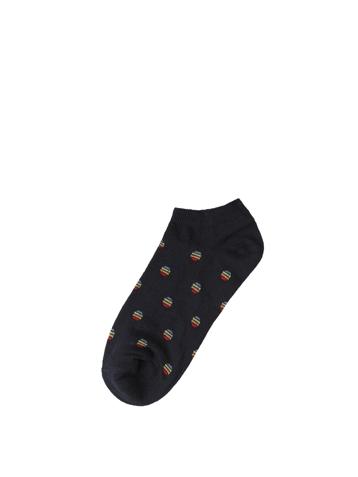 Desenli Siyah Erkek Çorap