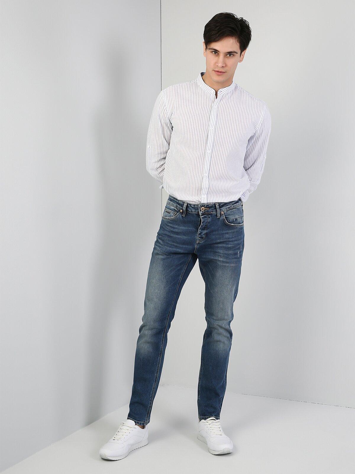 Regular Fit Hakim Erkek Açık Mavi Uzun Kol Gömlek