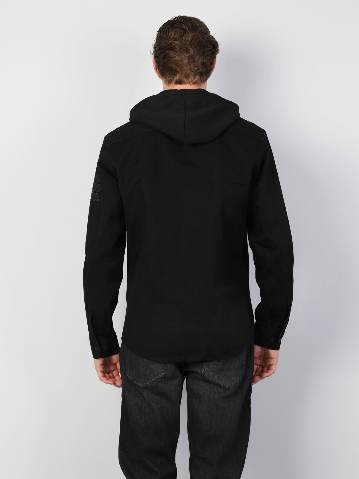 Siyah Uzun Kol Gömlek