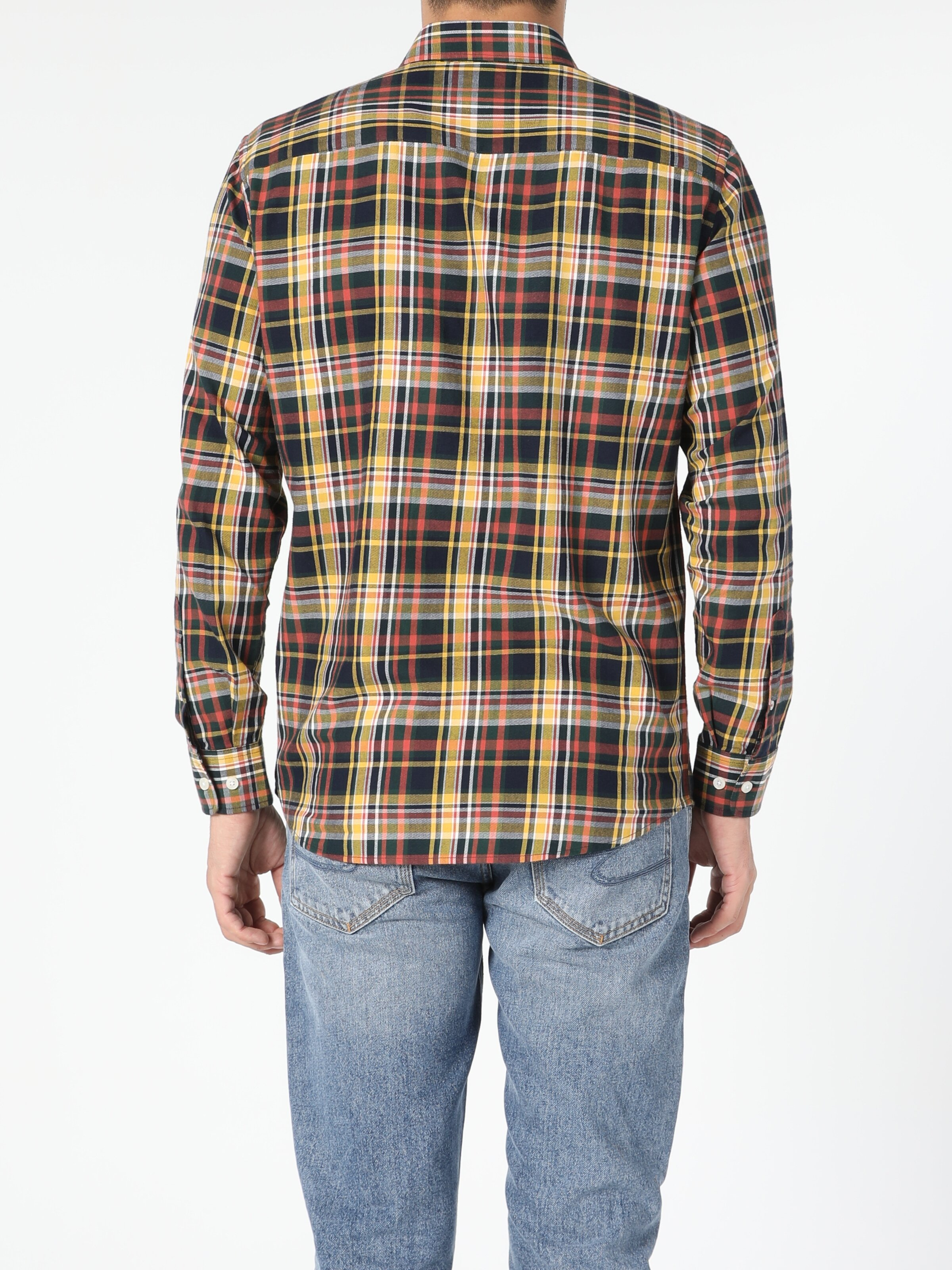 Regular Fit Lacivert Erkek Uzun Kol Gömlek