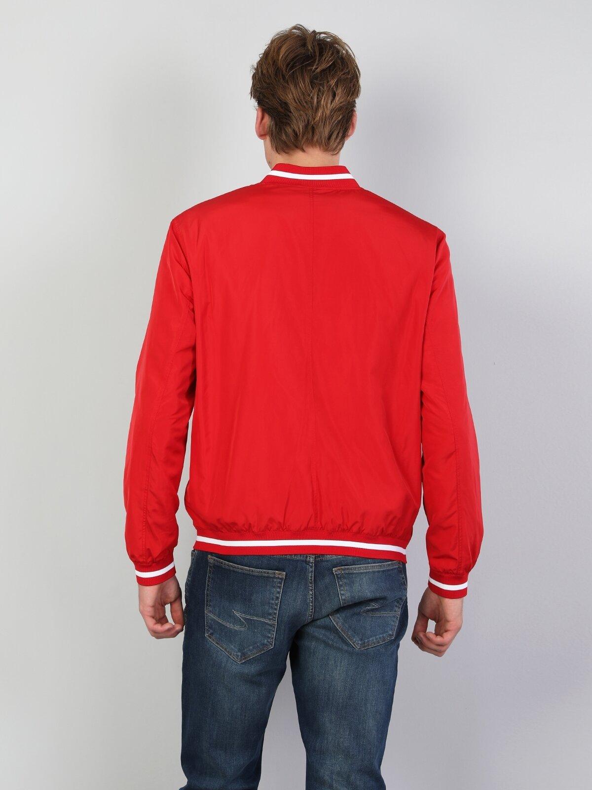 Regular Fit  Erkek Kırmızı Mont